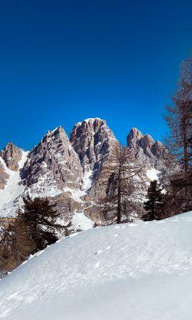 152781 скачать обои Снег, Деревья, Зима, Природа, Горы, Пейзаж - заставки и картинки бесплатно