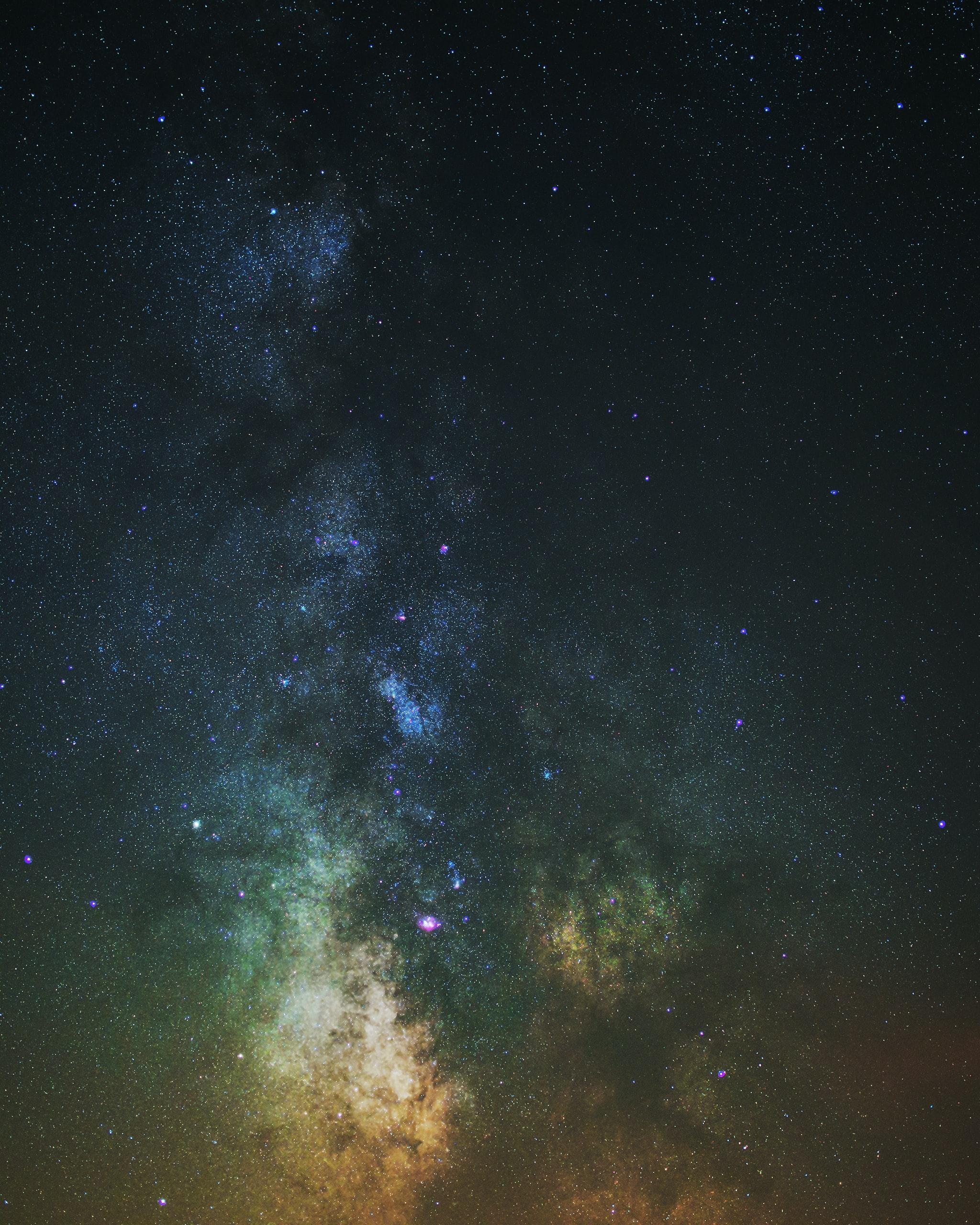 133549 скачать обои Туманность, Галактика, Разноцветный, Звезды, Космос - заставки и картинки бесплатно