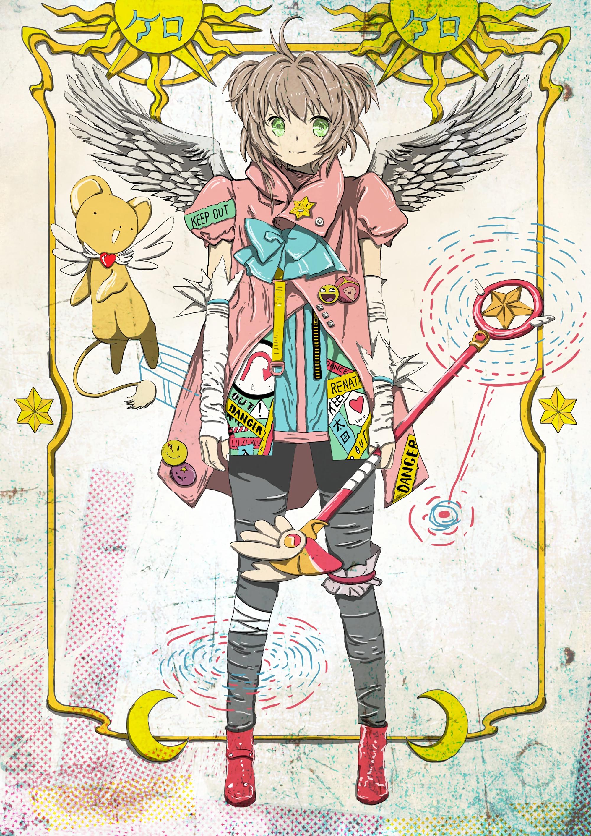 100998 Hintergrundbild herunterladen Anime, Mädchen, Kunst, Sun, Flügel - Bildschirmschoner und Bilder kostenlos