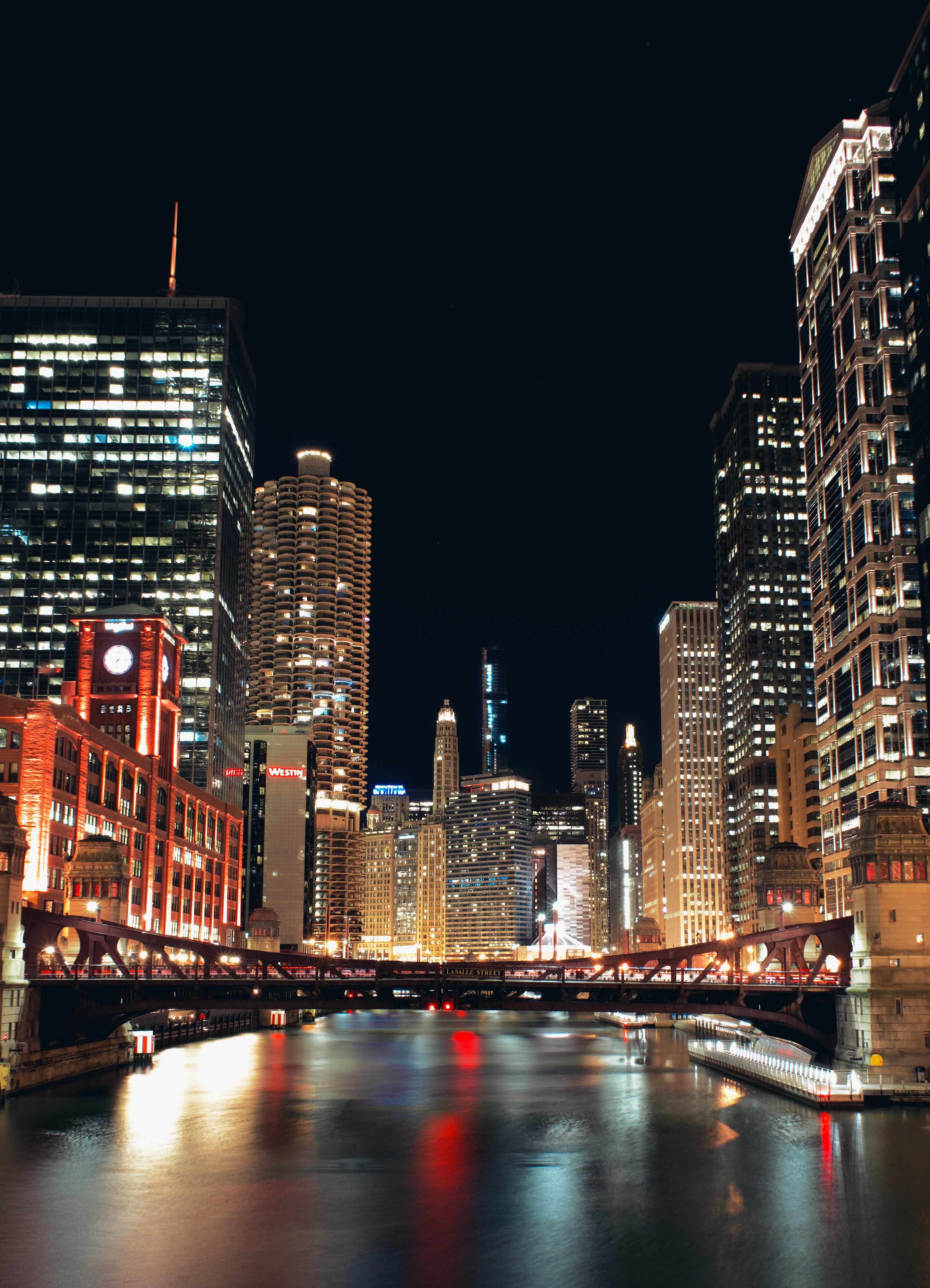 121286 скачать обои Город, Мост, Здания, Огни, Архитектура, Города - заставки и картинки бесплатно