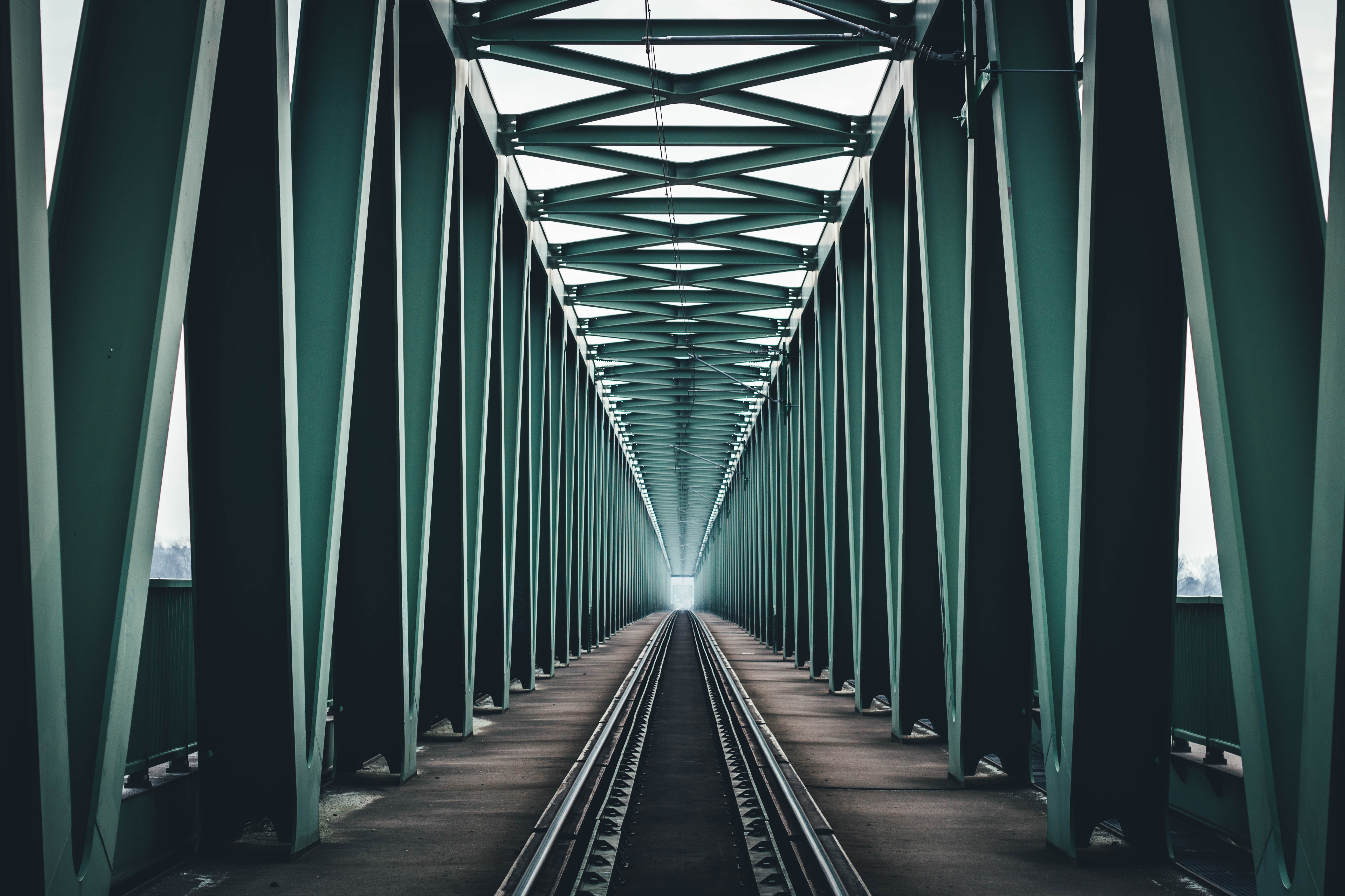 76852 Screensavers and Wallpapers Bridge for phone. Download Minimalism, Bridge, Design, Construction, Symmetry, Railway, Hungary, Budapest pictures for free