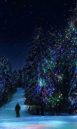20995 descargar fondo de pantalla Vacaciones, Invierno, Año Nuevo, Abetos, Navidad: protectores de pantalla e imágenes gratis
