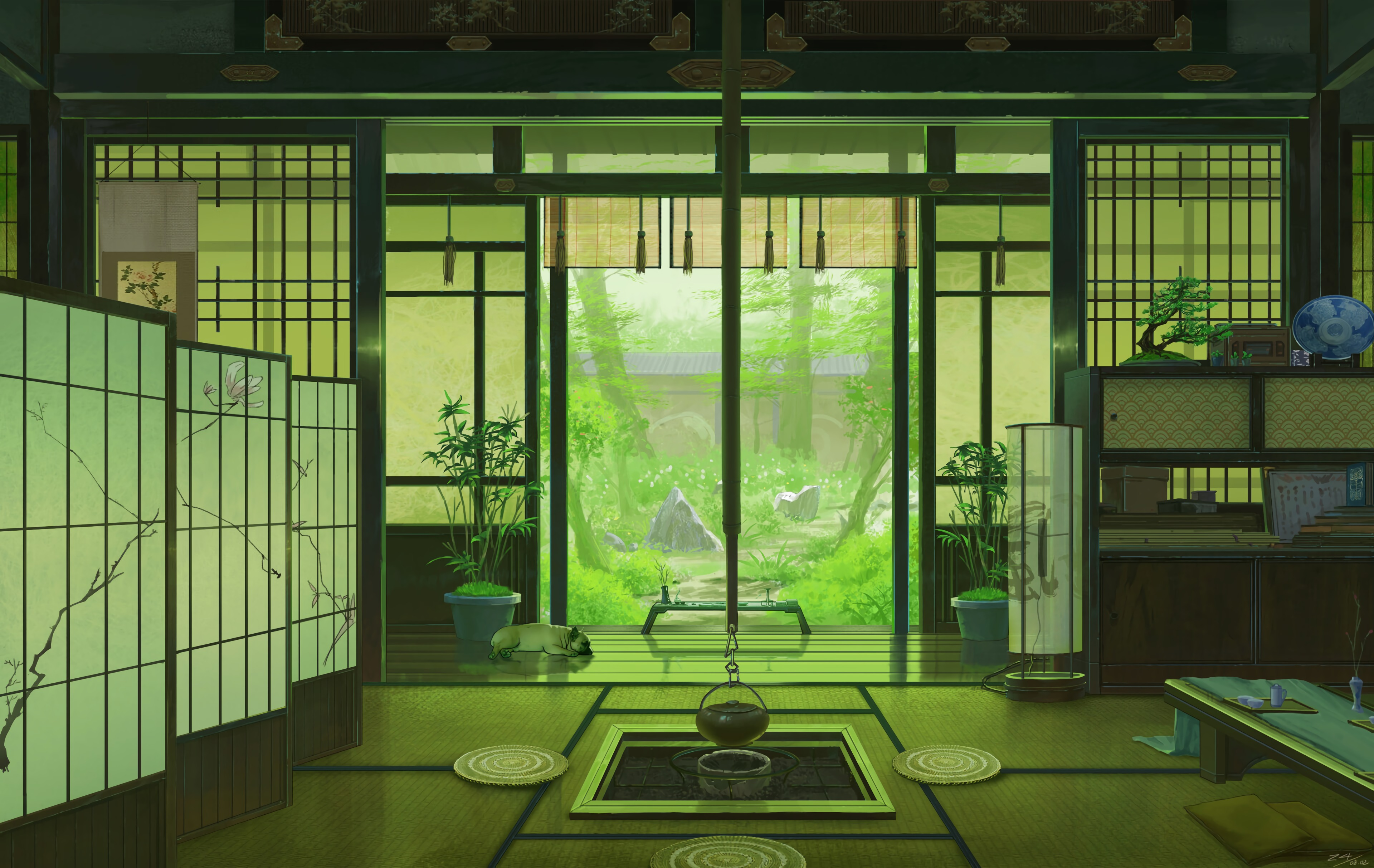 135050 Screensavers and Wallpapers Interior for phone. Download Art, Interior, Window, View, Japan pictures for free