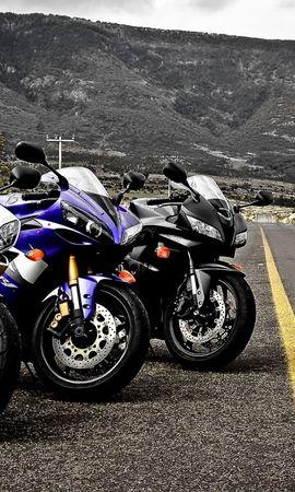 48912 скачать обои Транспорт, Пейзаж, Дороги, Горы, Мотоциклы - заставки и картинки бесплатно