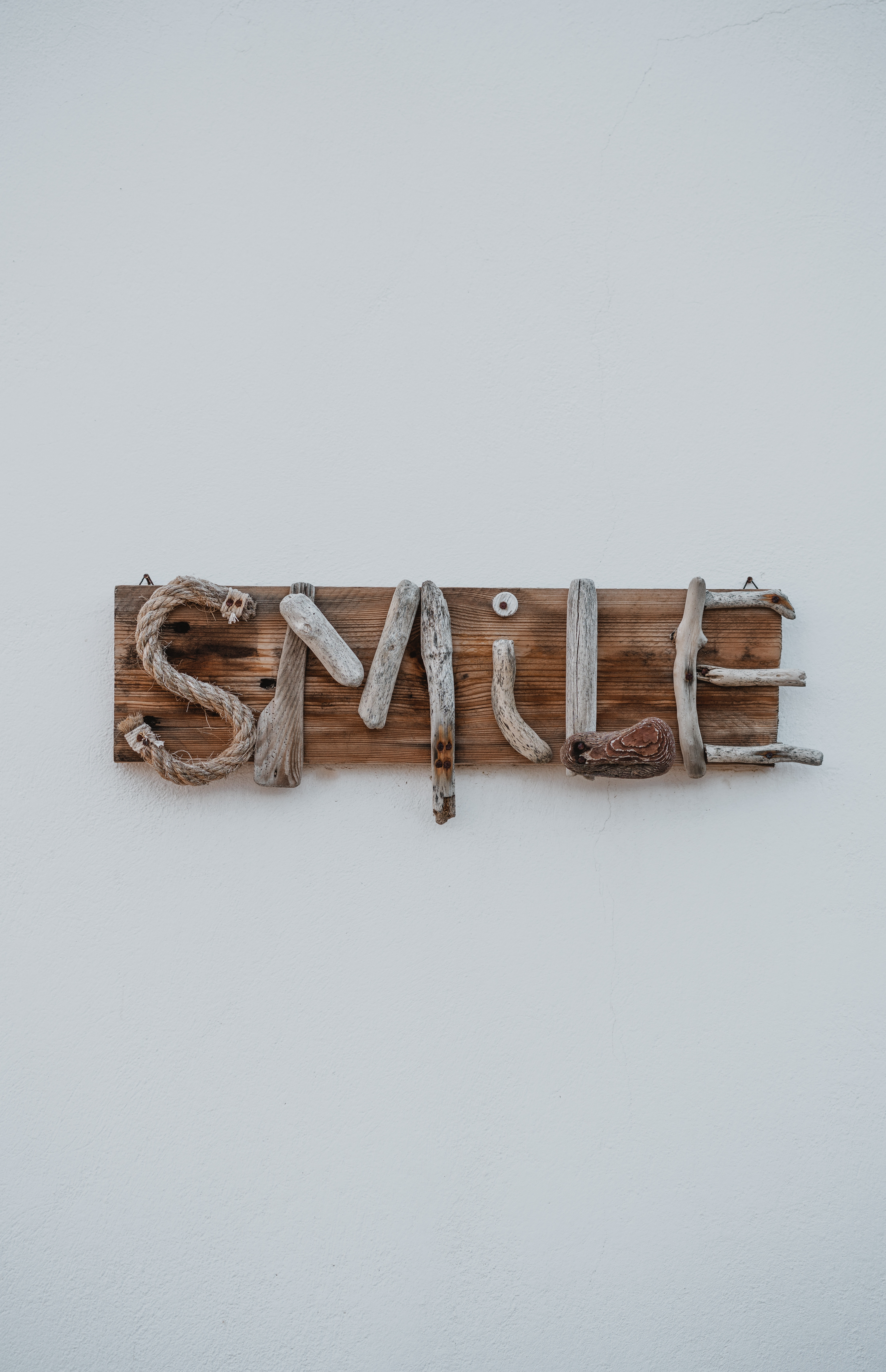94361 Screensavers and Wallpapers Smile for phone. Download Words, Wood, Wooden, Smile, Inscription, Creative pictures for free
