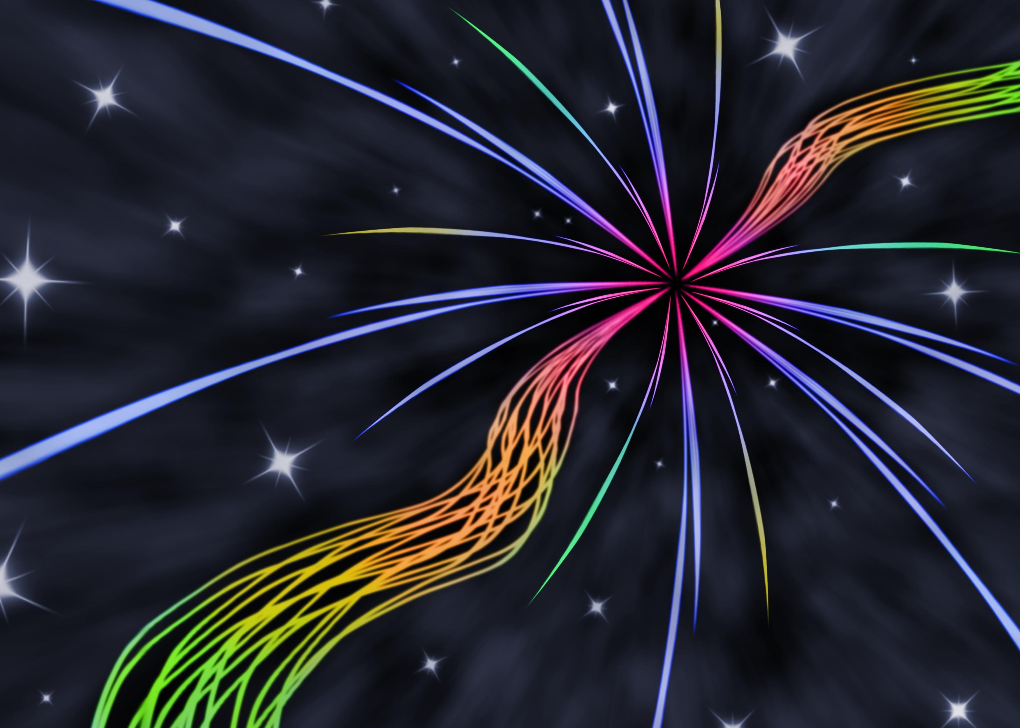 108039 免費下載壁紙 抽象, 线, 彩虹, 彩虹色, 星级 屏保和圖片