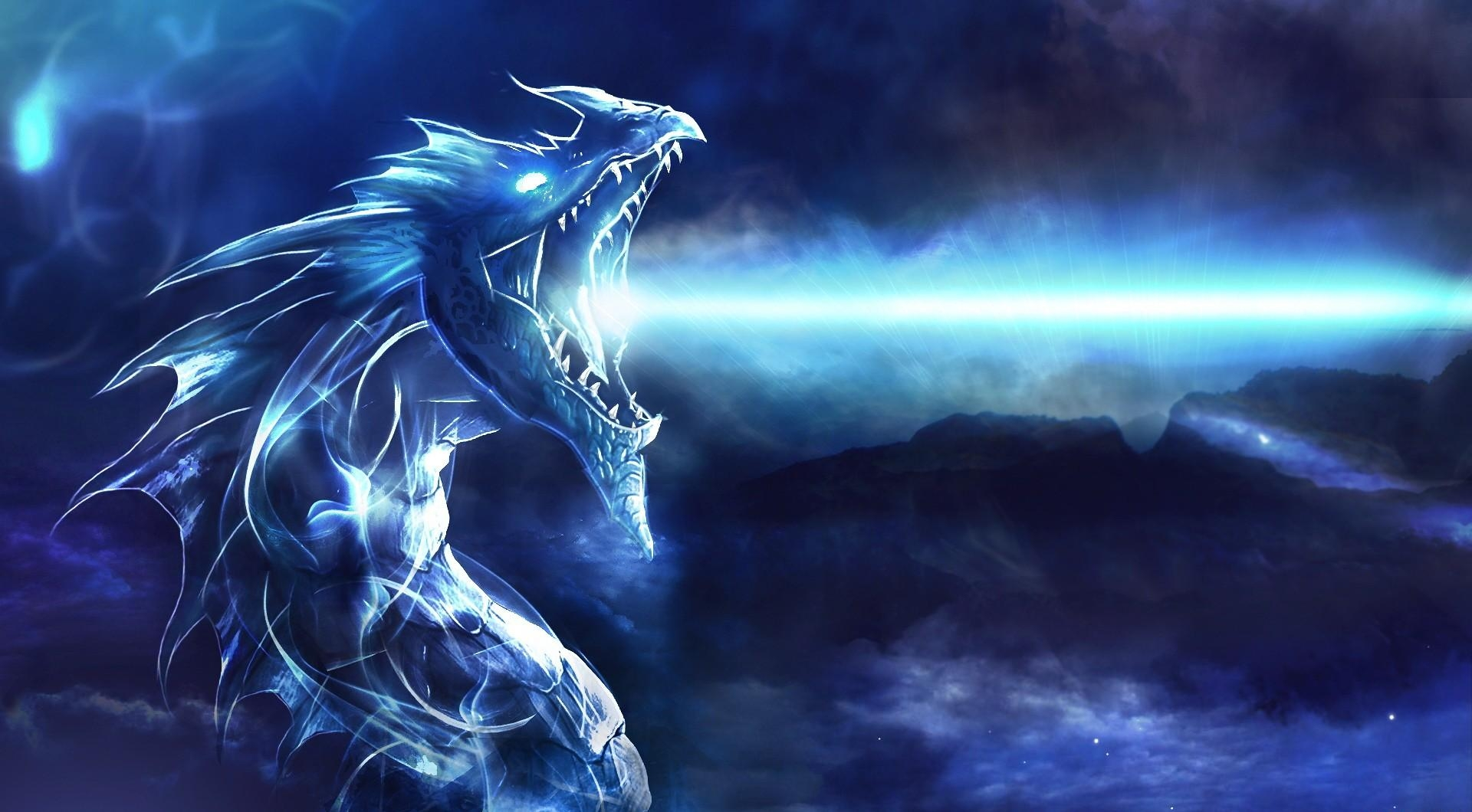 73226 download wallpaper Fantasy, Dragon, To Fall, Mouth, Night, Shine, Light screensavers and pictures for free