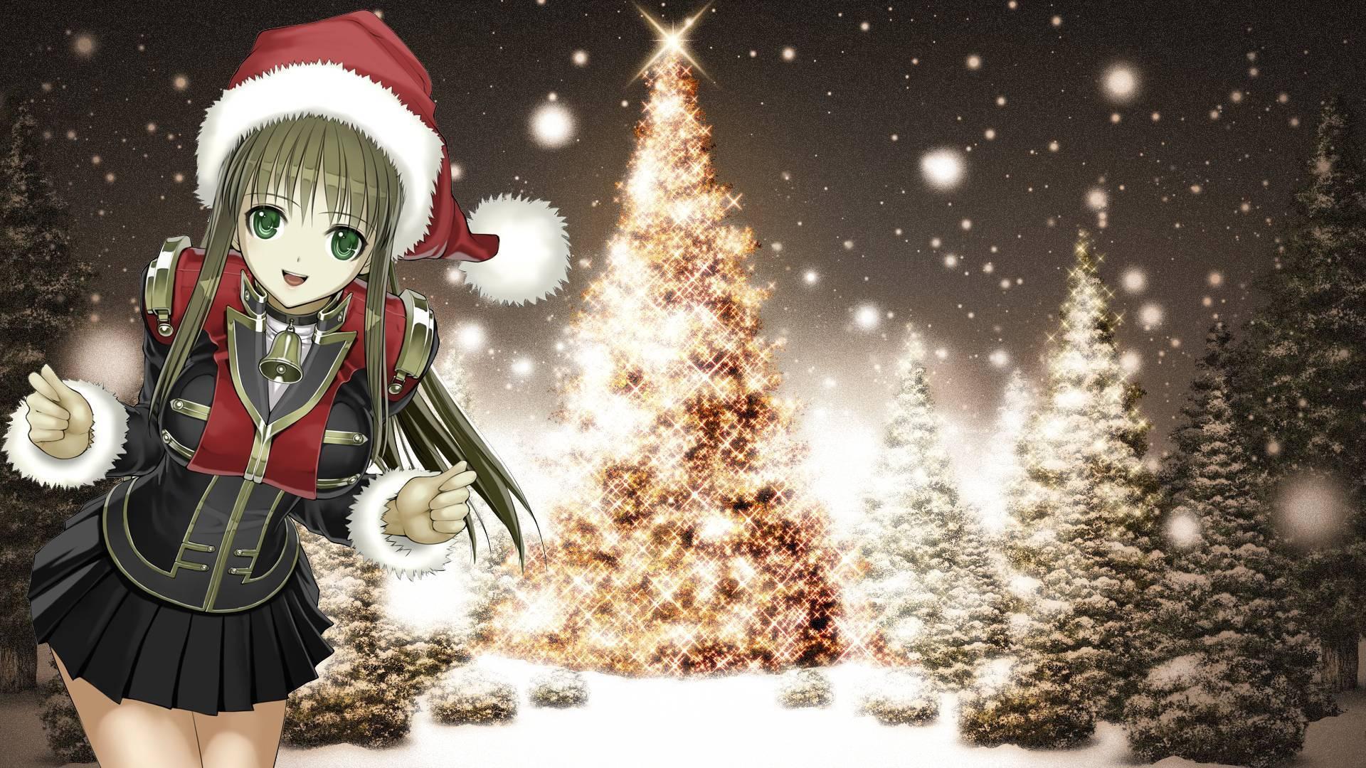 17638 скачать обои Праздники, Аниме, Новый Год (New Year), Рождество (Christmas, Xmas) - заставки и картинки бесплатно