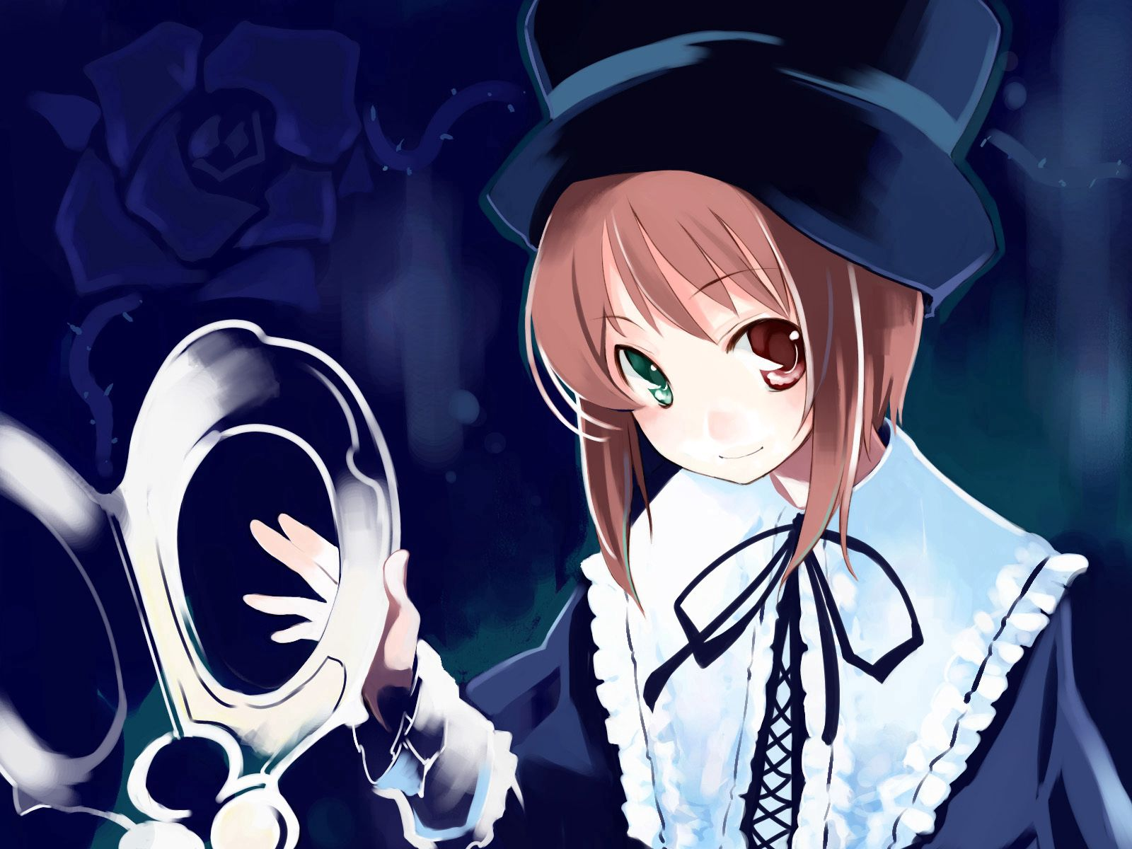 132518 Screensavers and Wallpapers Pretty for phone. Download Anime, Girl, Pretty, Hat, Brunette pictures for free