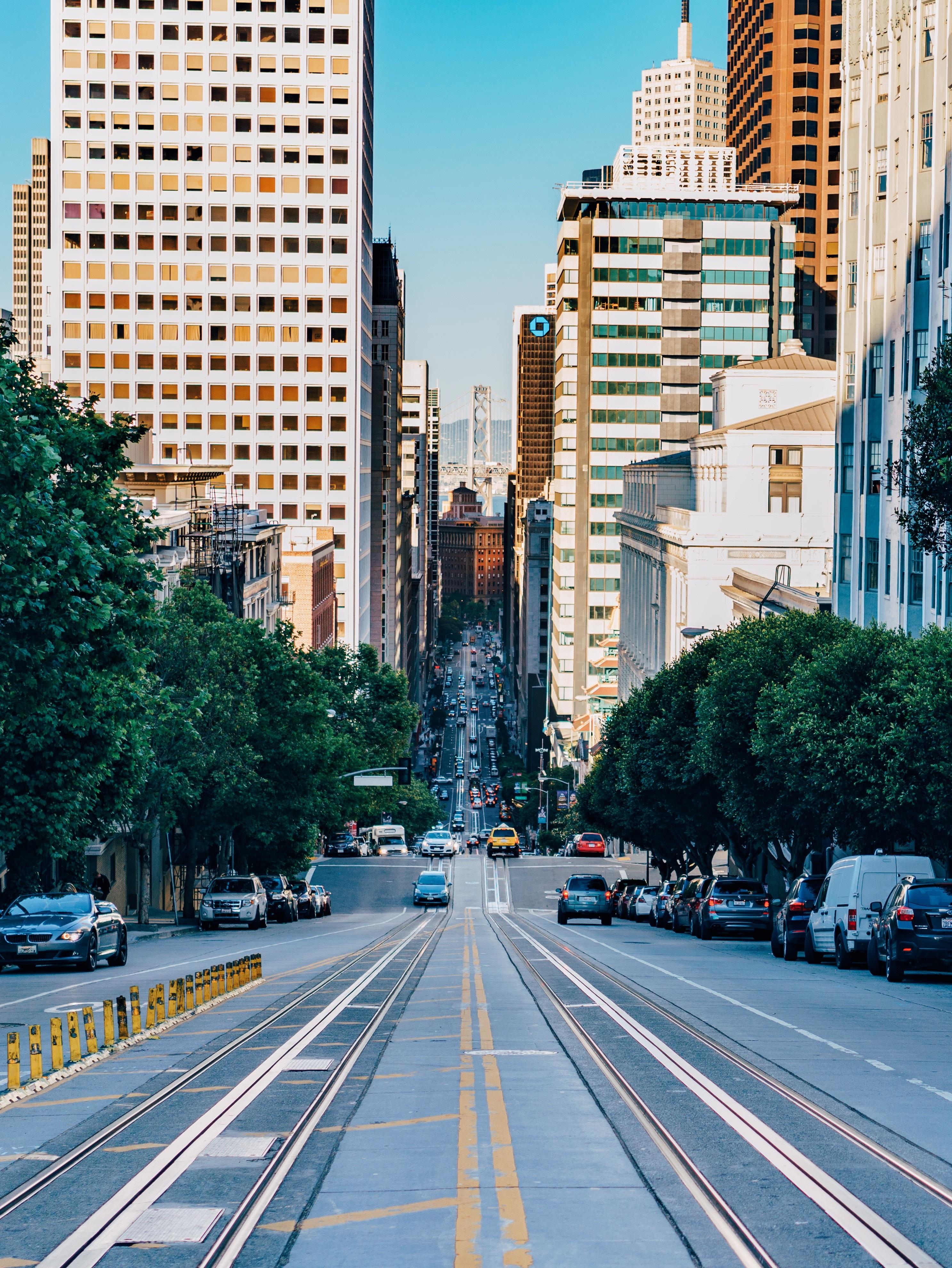 85230 скачать обои Архитектура, Сан-Франциско, Города, Движение, Сша, Улица, Городской - заставки и картинки бесплатно