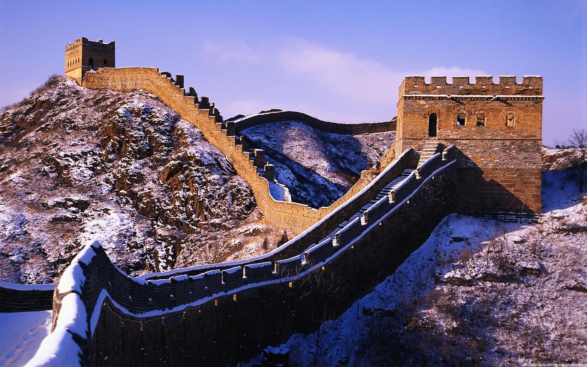26074 скачать обои Пейзаж, Горы, Архитектура, Великая Китайская Стена - заставки и картинки бесплатно