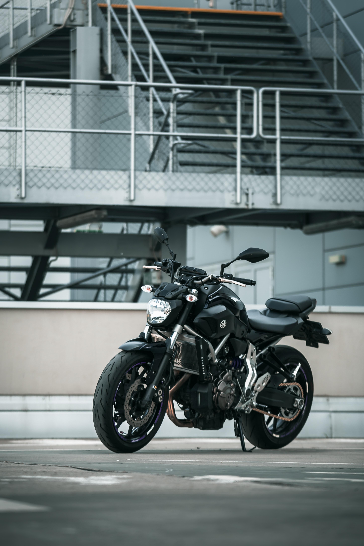 85726 скачать обои Мотоциклы, Ямаха (Yamaha), Мотоцикл, Черный - заставки и картинки бесплатно