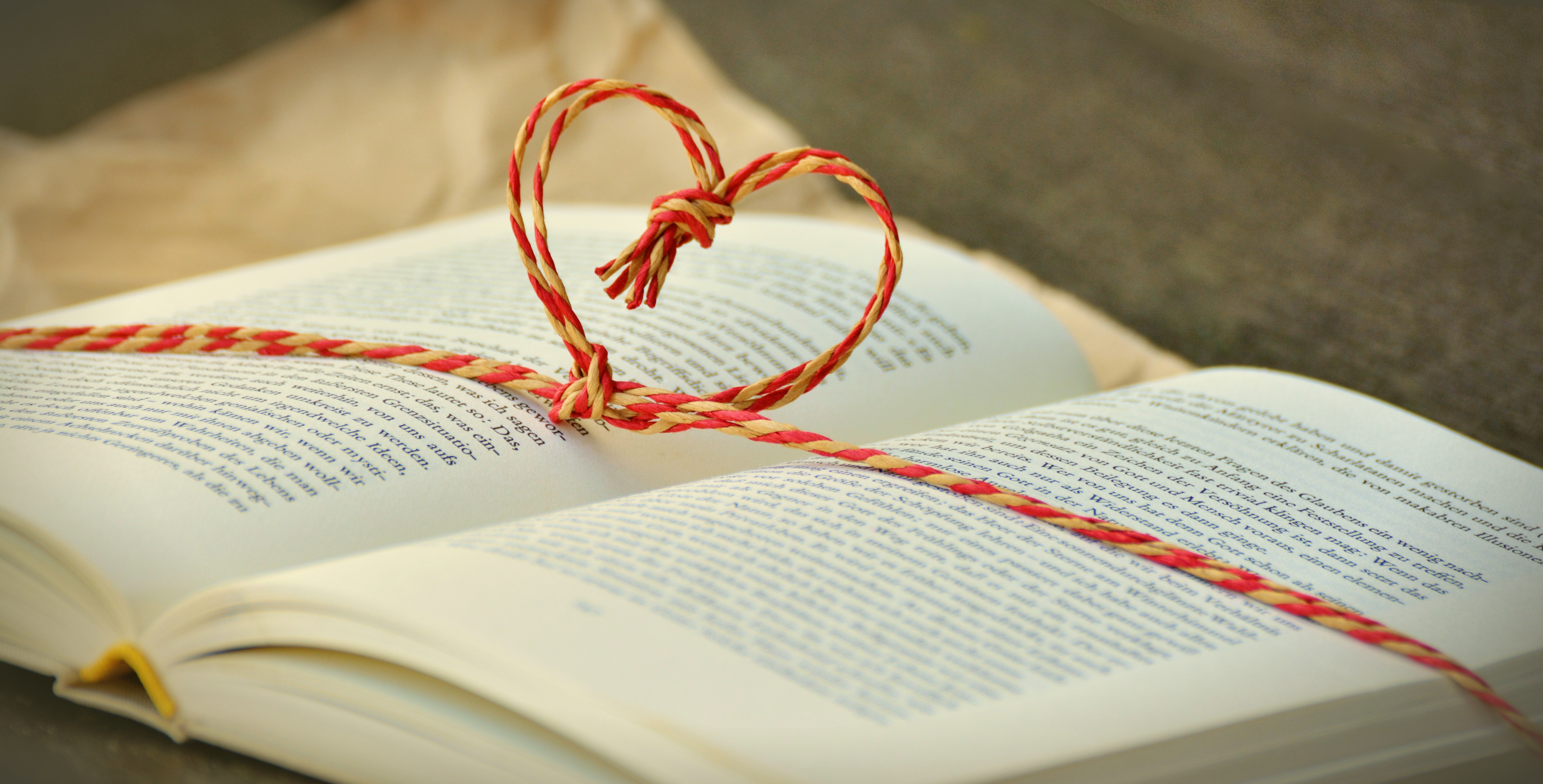 59010 Screensavers and Wallpapers Book for phone. Download Love, Thread, Heart, Book pictures for free
