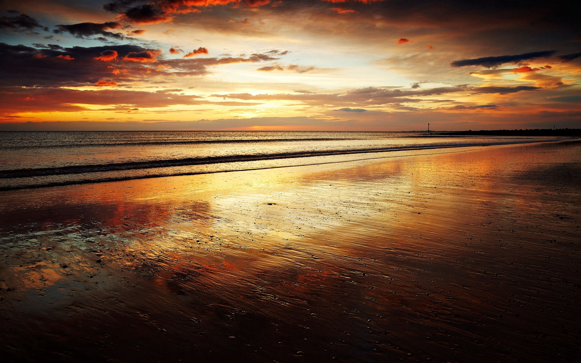 87940 Screensavers and Wallpapers Wet for phone. Download Nature, Sunset, Sea, Waves, Beach, Sand, Horizon, Shore, Bank, Wet, Evening, Romance, Grains, Calmness, Tranquillity, Whisper pictures for free