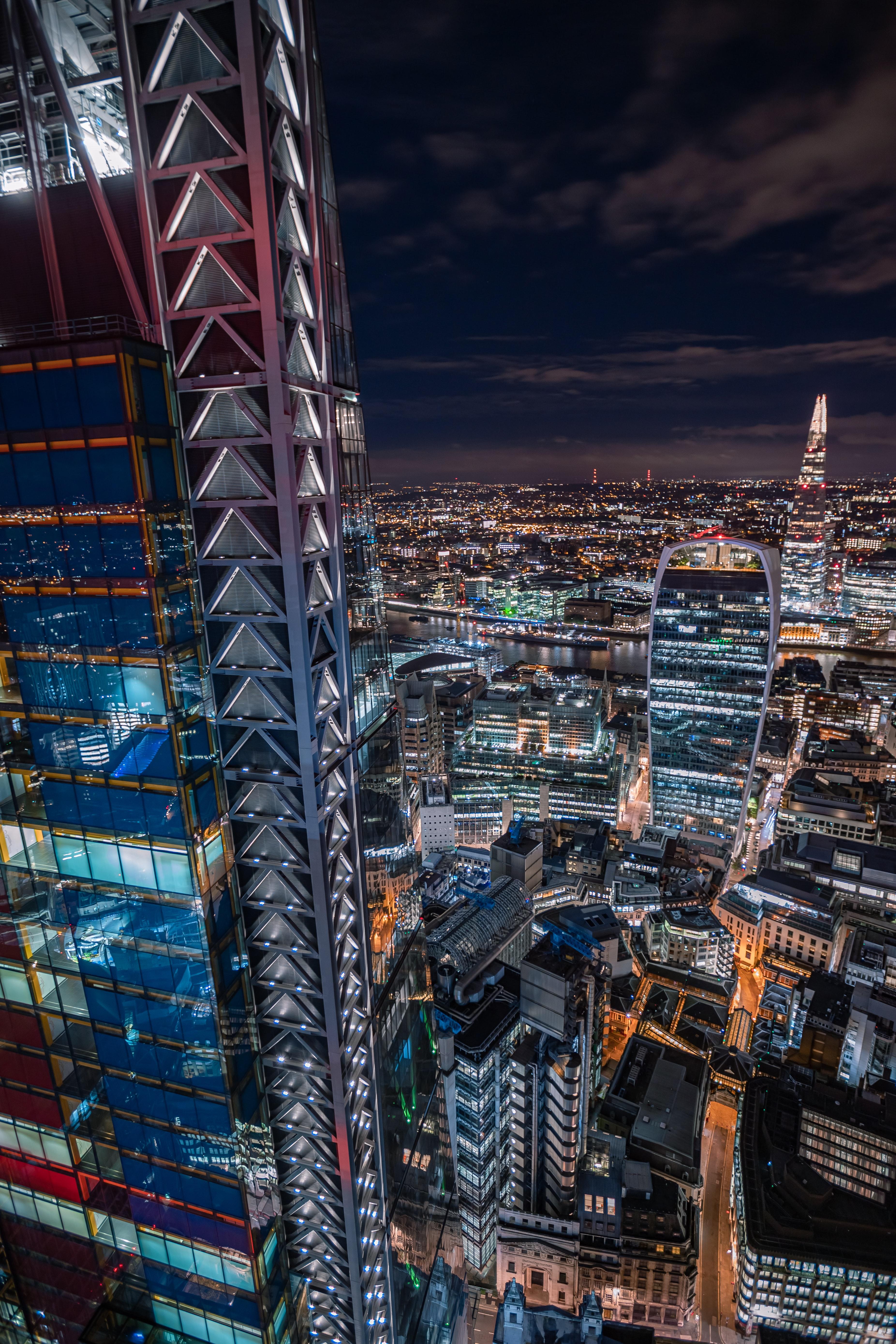 53881 скачать обои Ночной Город, Здания, Небоскребы, Лондон, Архитектура, Города - заставки и картинки бесплатно