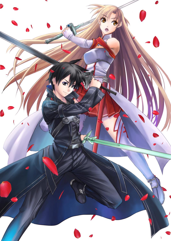20654 download wallpaper Anime, Cartoon, Girls, Swords, Men, Sword Art Online screensavers and pictures for free