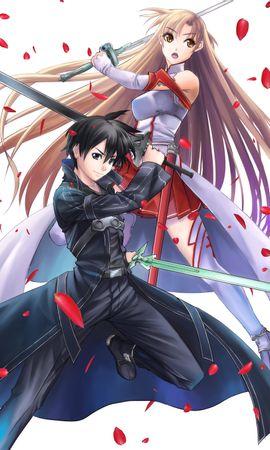 Baixar papel de parede gratuito 20654: papel de parede Desenho, Anime, Meninas, Swords, Homens, Sword Art Online para telefone celular