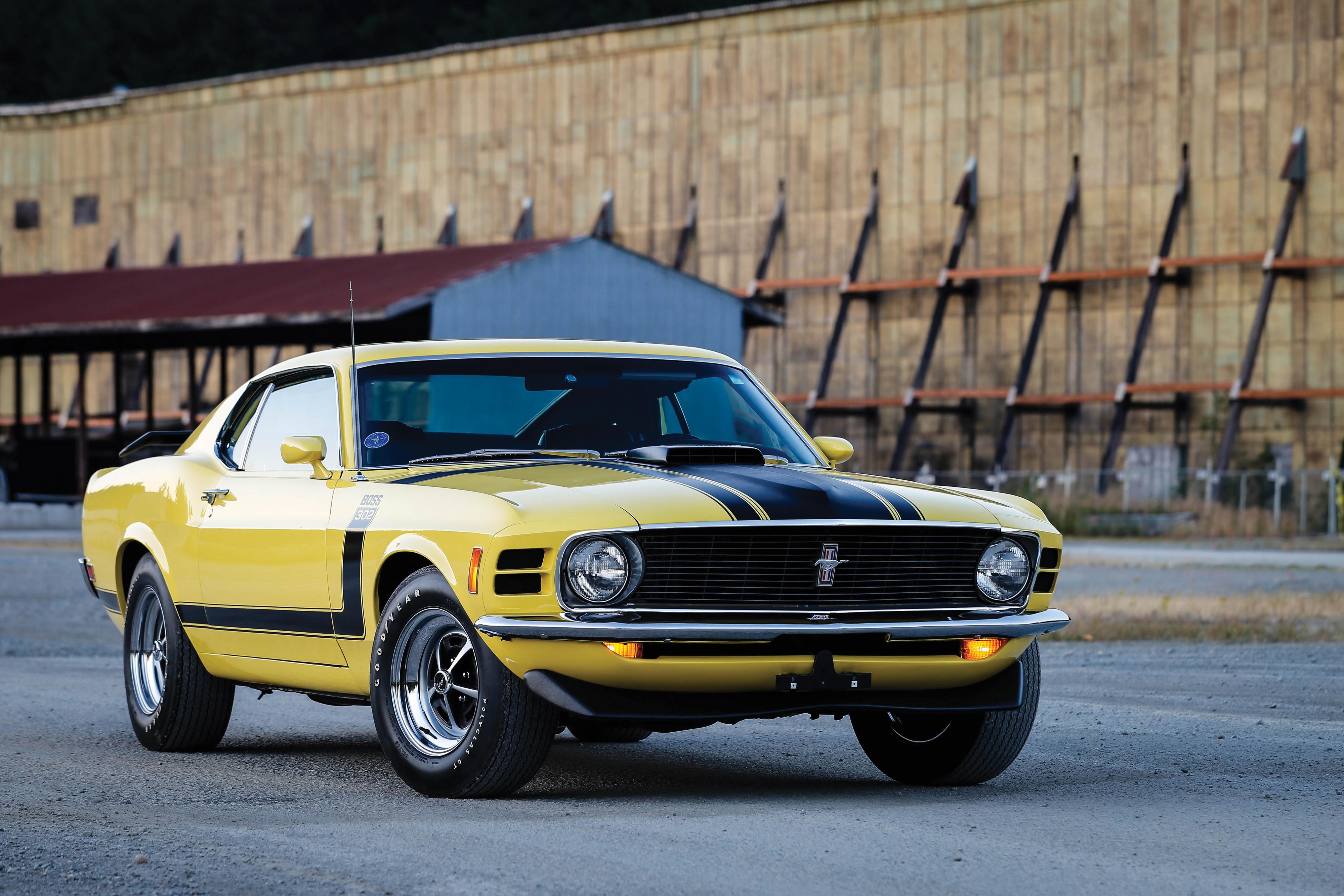 105800 Заставки и Обои Мустанг (Mustang) на телефон. Скачать Мустанг (Mustang), Форд (Ford), Тачки (Cars), Вид Сбоку, Желтый, 1970, Boss 302 картинки бесплатно