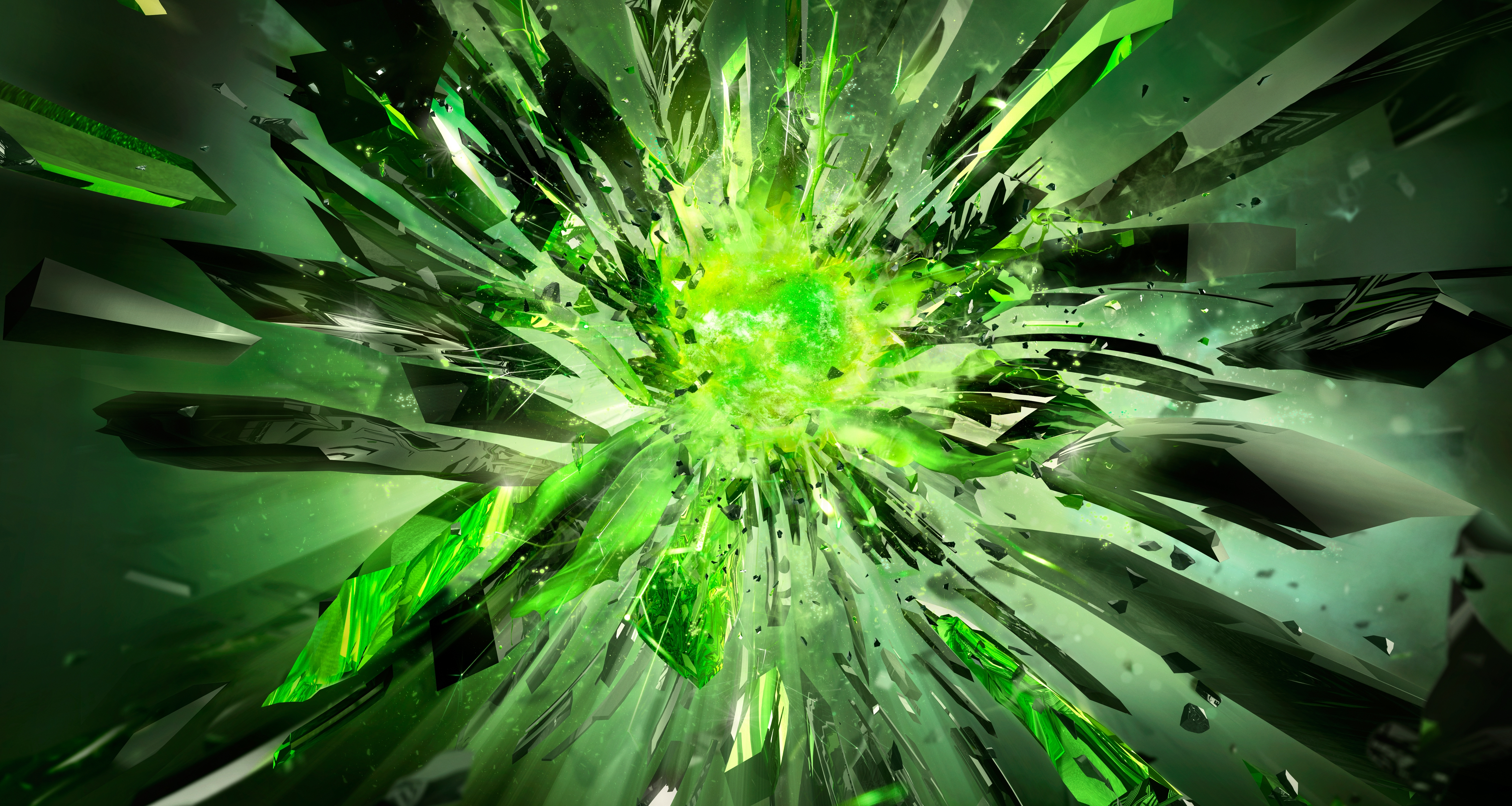 116340 download wallpaper Abstract, Crystals, Shards, Smithereens, Explosion, Shine, Light screensavers and pictures for free