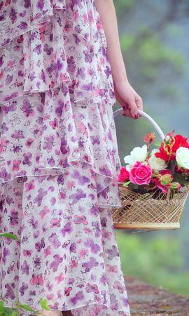 44533 télécharger le fond d'écran Plantes, Personnes, Fleurs, Filles - économiseurs d'écran et images gratuitement
