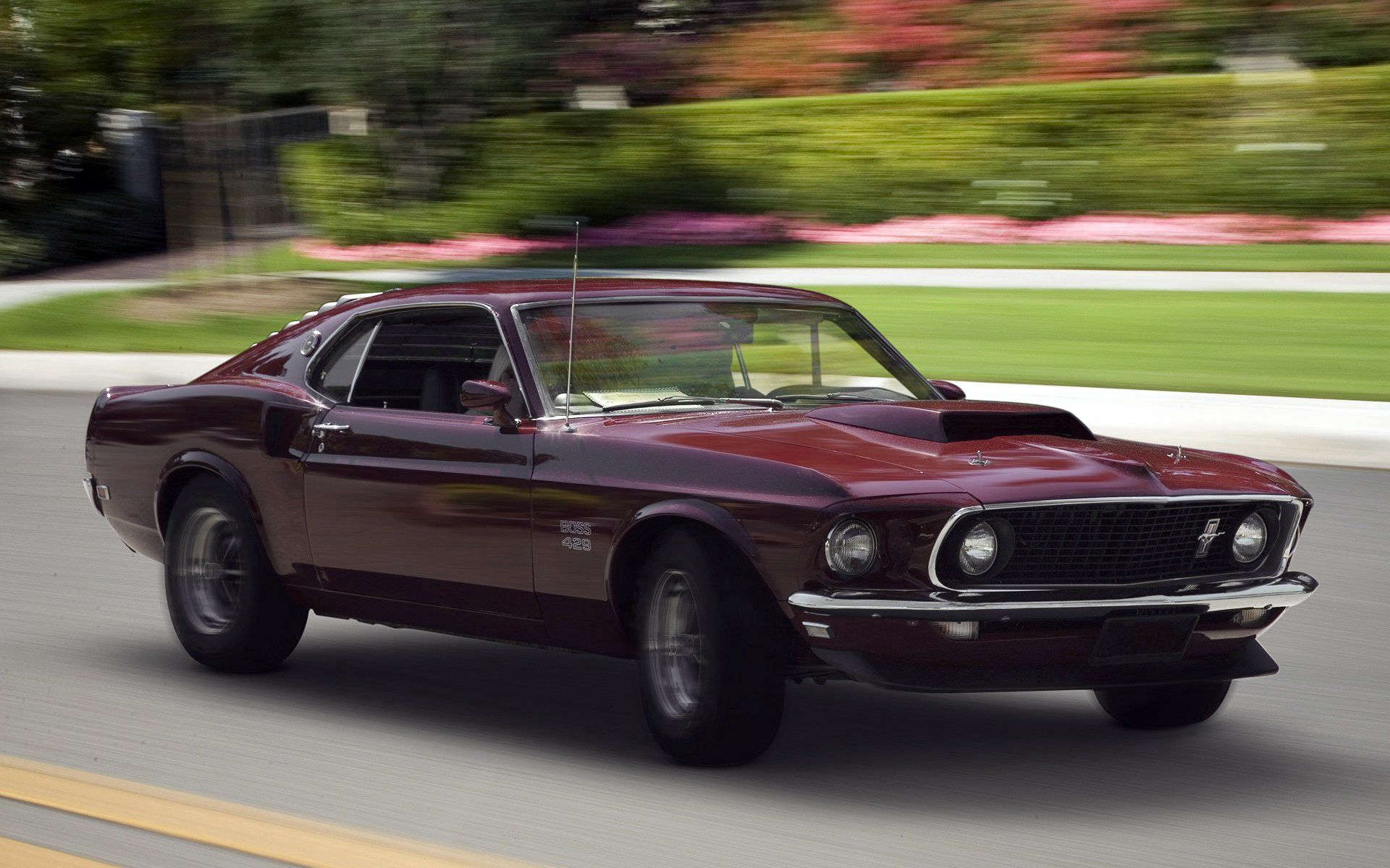 150792 download wallpaper Mustang, Cars, 1969, Muscle Car, 429, Fastback, Ford Boss screensavers and pictures for free