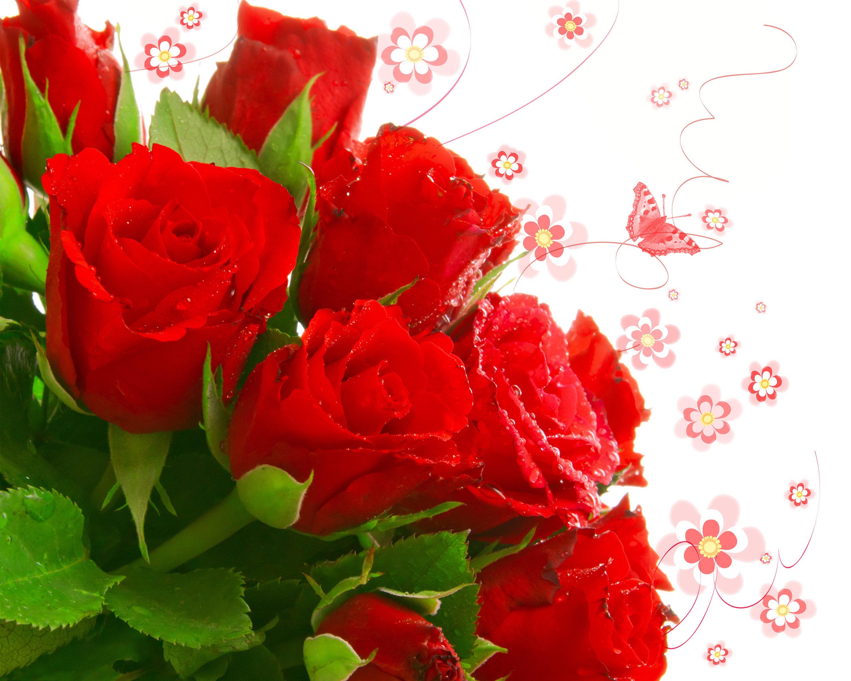 19487 Hintergrundbild herunterladen Feiertage, Pflanzen, Blumen, Roses, Bouquets - Bildschirmschoner und Bilder kostenlos