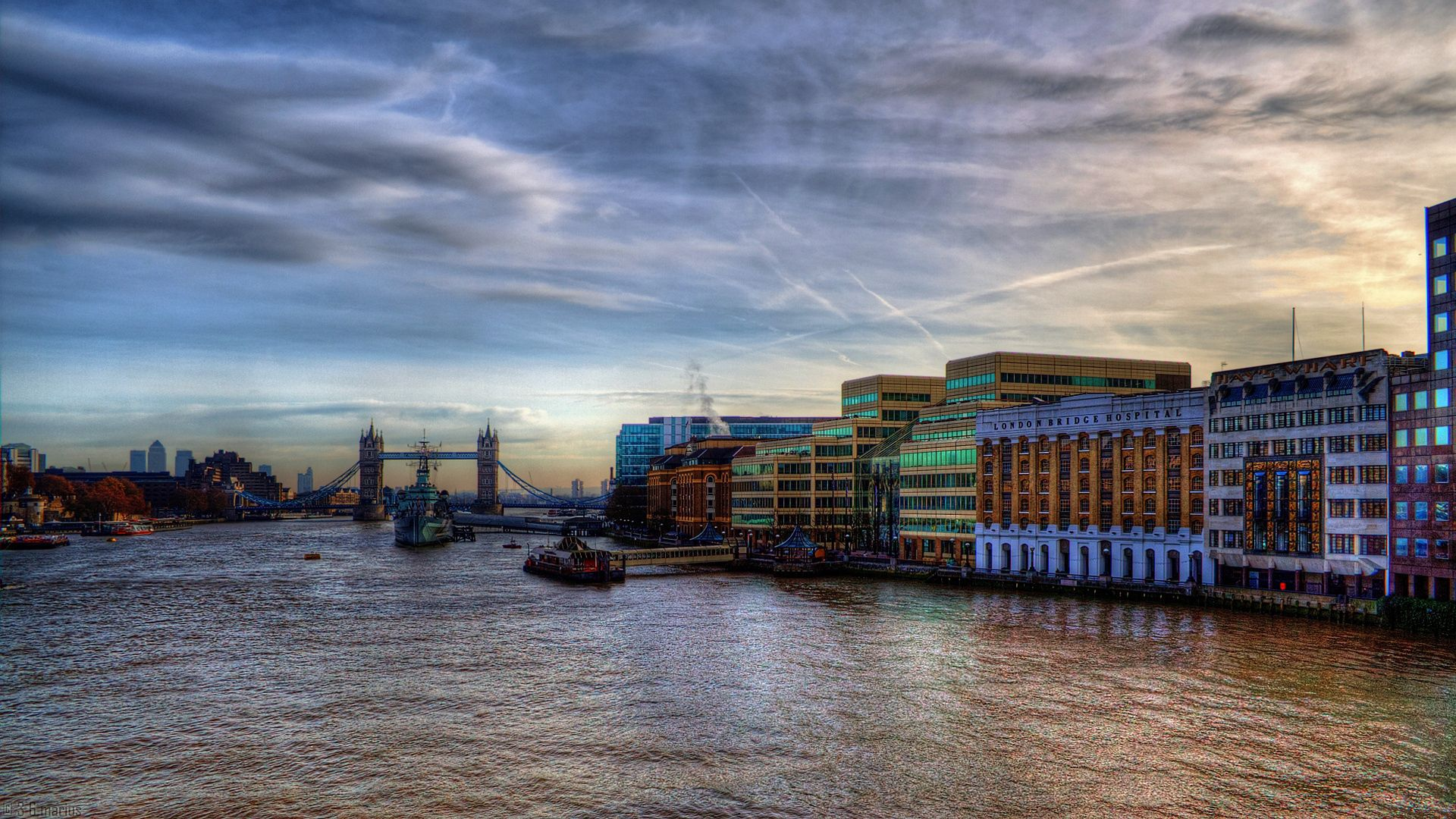 139317 download wallpaper London, Thames, Ships, Building, Evening, Cities screensavers and pictures for free