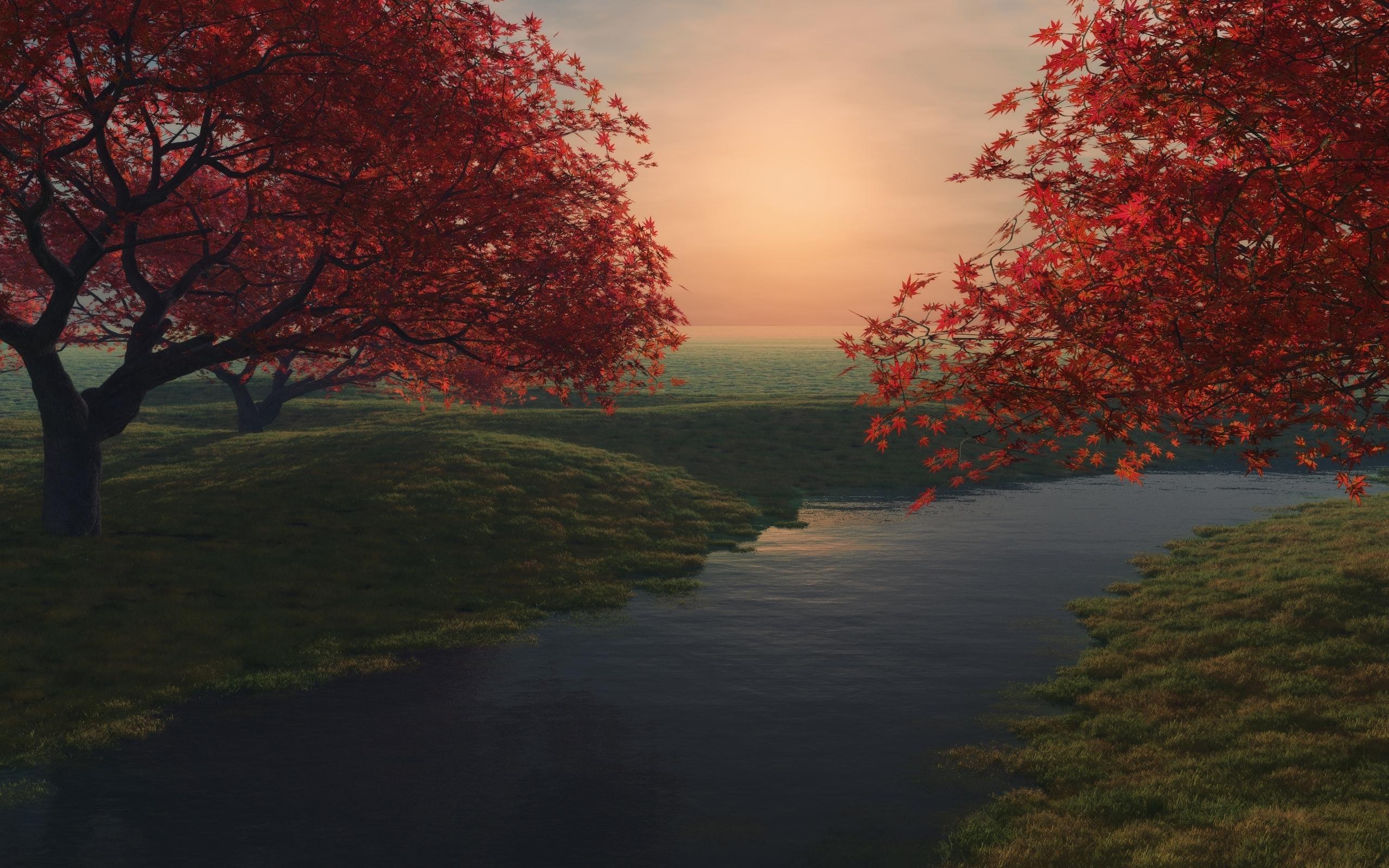 1712 скачать обои Пейзаж, Река, Деревья - заставки и картинки бесплатно