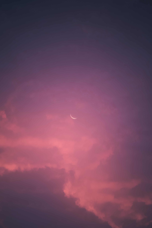 免費壁紙88183:极简主义, 月球, 天空, 粉色的, 粉色 下載手機圖片