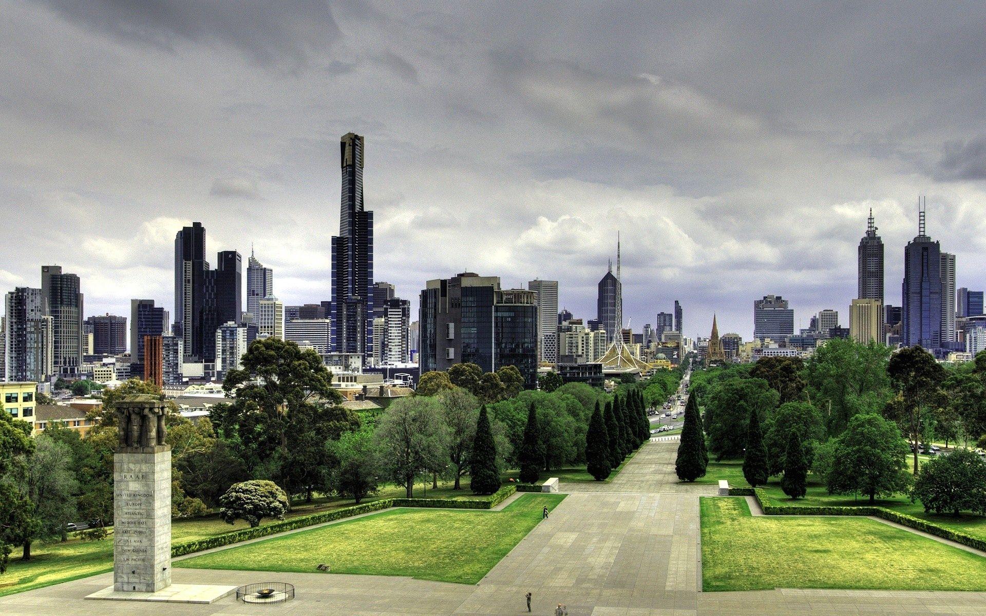 144362壁紙のダウンロードオーストラリア, メルボルン, 高層ビル, 高 層 ビル, 自然, 公園, ハンサムに, 美しいです, 散歩, 建物, 都市-スクリーンセーバーと写真を無料で