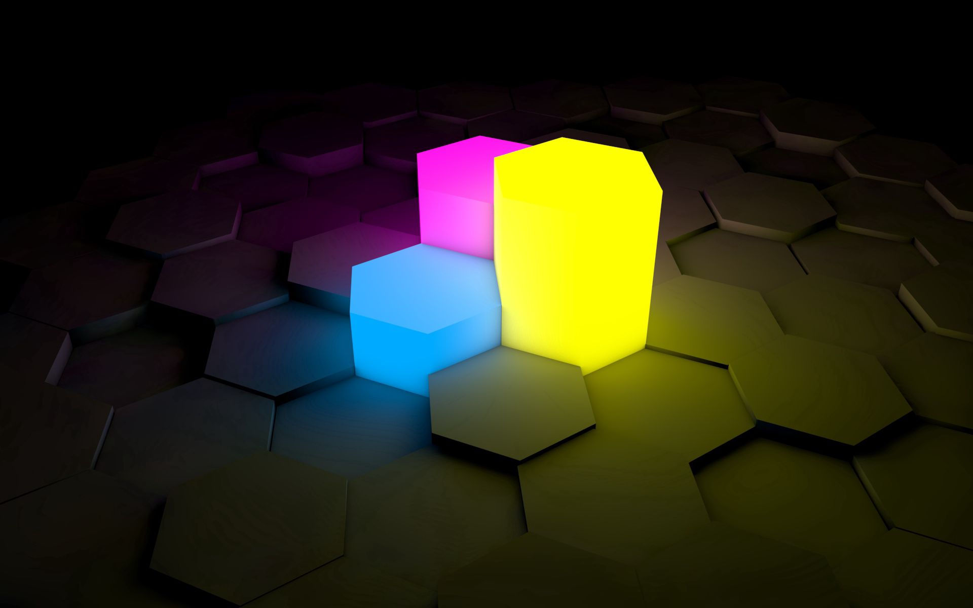 124889 download wallpaper 3D, Surface, Shine, Light, Neon, Figurines, Figures screensavers and pictures for free