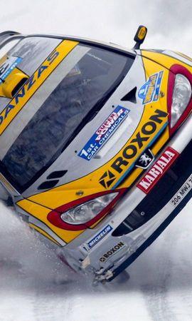 25915 скачать обои Спорт, Транспорт, Машины, Зима, Пежо (Peugeot), Ралли - заставки и картинки бесплатно