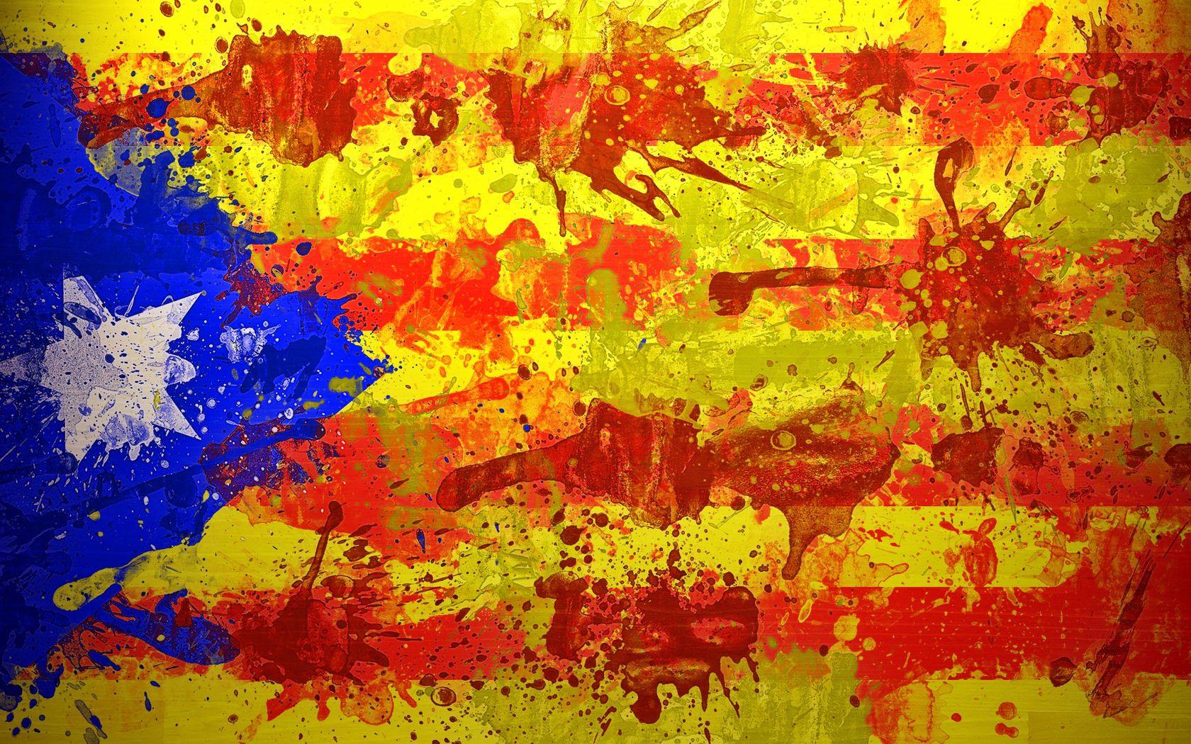 150836 baixar papel de parede Barcelona, Textura, Texturas, Pintar, Bandeira, Espanha, Simbolismo, Catalunha - protetores de tela e imagens gratuitamente