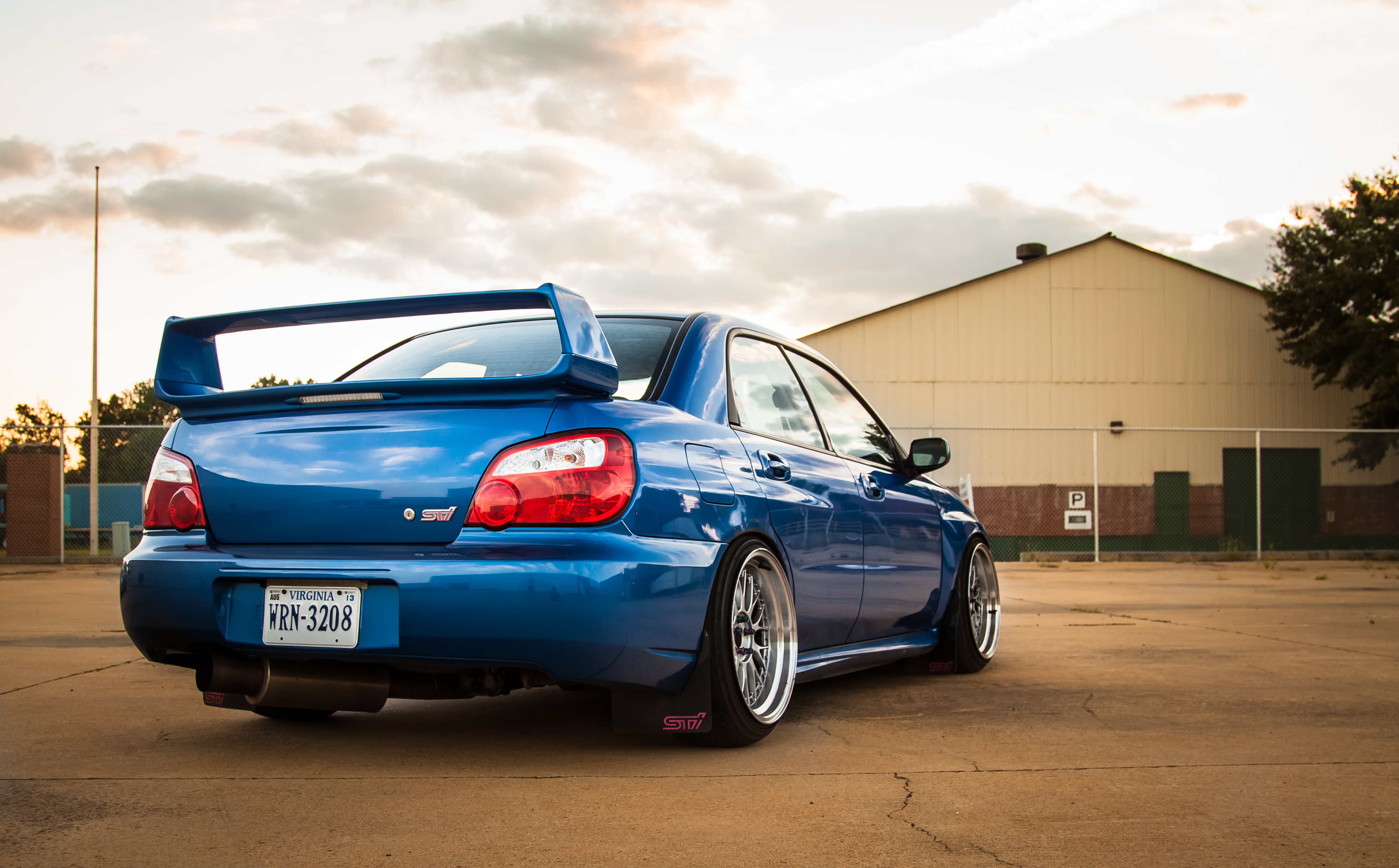 138235 download wallpaper Subaru, Cars, Back View, Rear View, Impreza, Wrx, Sti screensavers and pictures for free