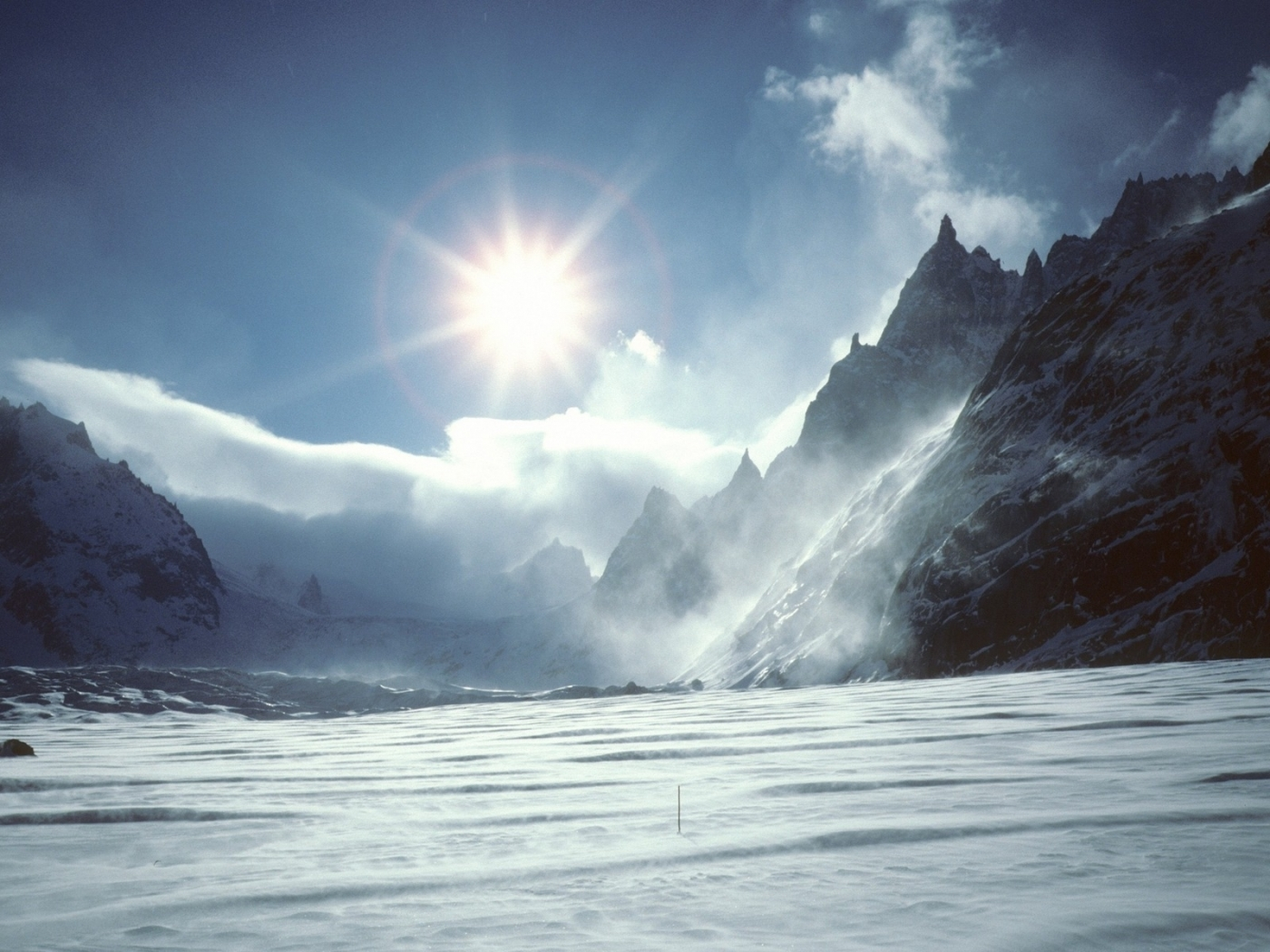 42533 download wallpaper Landscape, Winter, Mountains screensavers and pictures for free
