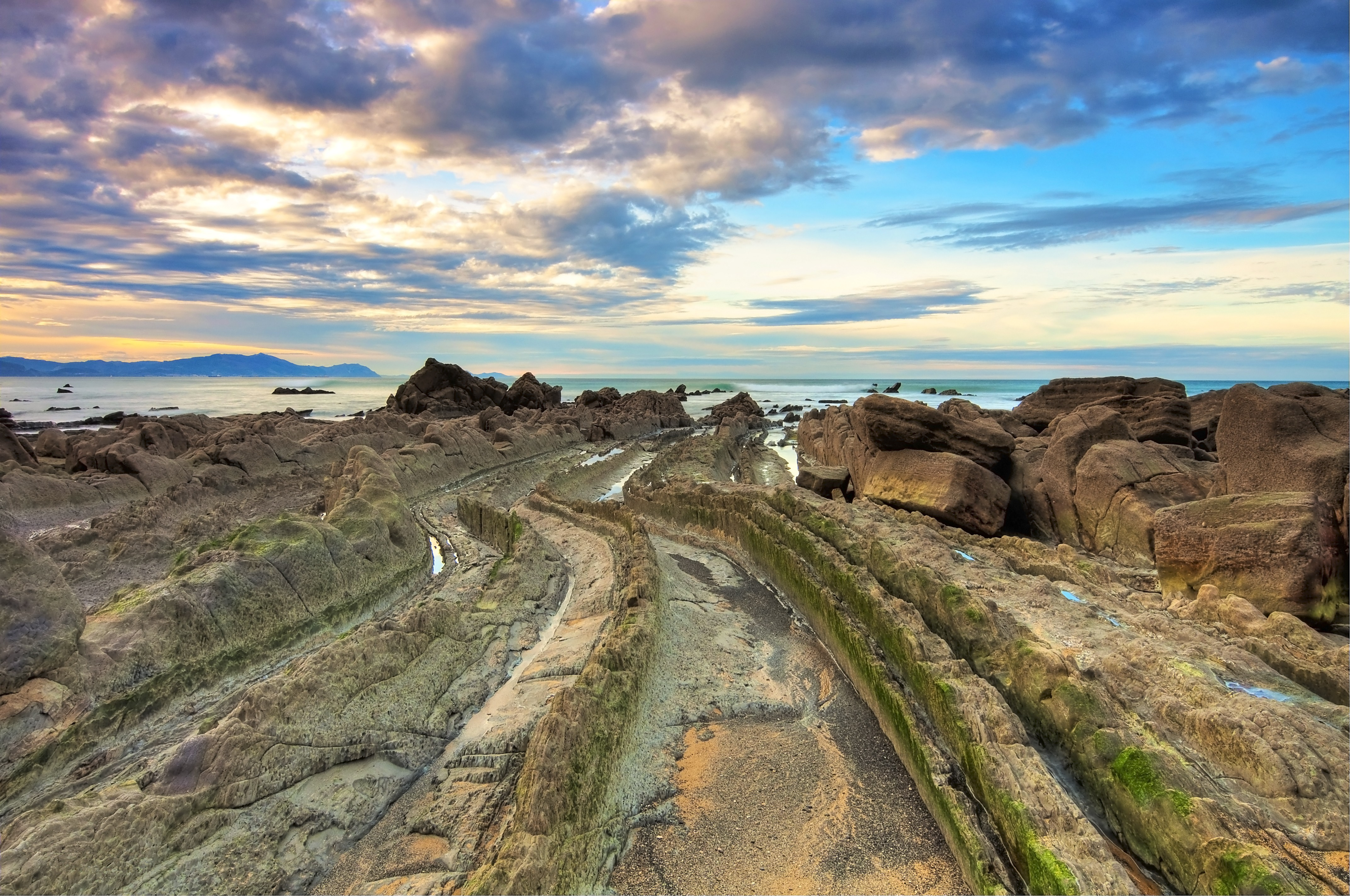 138161 download wallpaper Nature, Water, Stones, Rocks, Spain, Turbidites, Tourbidites screensavers and pictures for free
