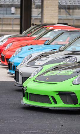 Скачать бесплатно картинку 85402: Тачки (Cars), Porsche 911, Порш (Porsche), Автомобили, Спорткары, Разноцветный обои на телефон