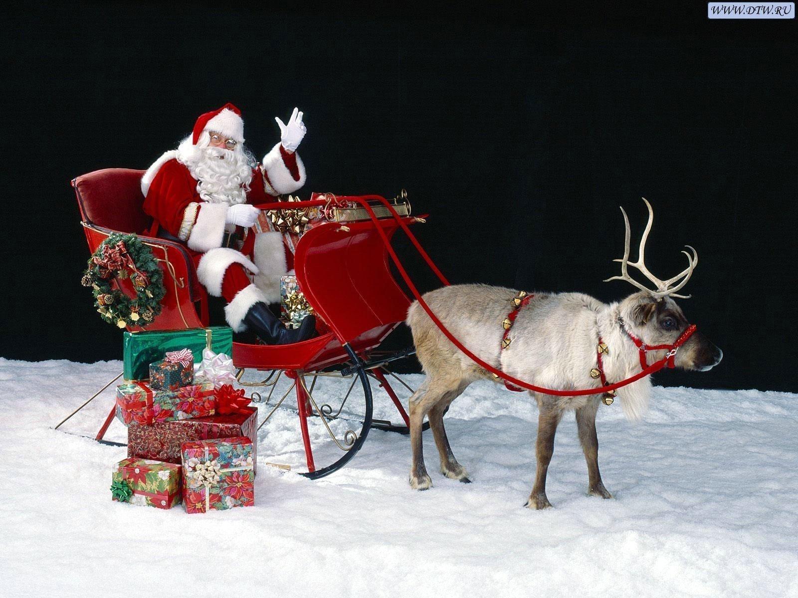 2211 descargar fondo de pantalla Vacaciones, Año Nuevo, Jack Frost, Papá Noel, Navidad: protectores de pantalla e imágenes gratis