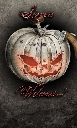 16392 скачать обои Праздники, Арт, Хэллоуин (Halloween), Рисунки, Тыквы - заставки и картинки бесплатно