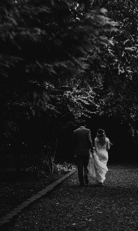 53854 Заставки и Обои Свадьба на телефон. Скачать Пара, Любовь, Чб, Свадьба, Тропинка картинки бесплатно