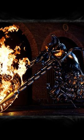 2854 download wallpaper Cinema, Transport, Fire, Motorcycles, Ghost Rider screensavers and pictures for free
