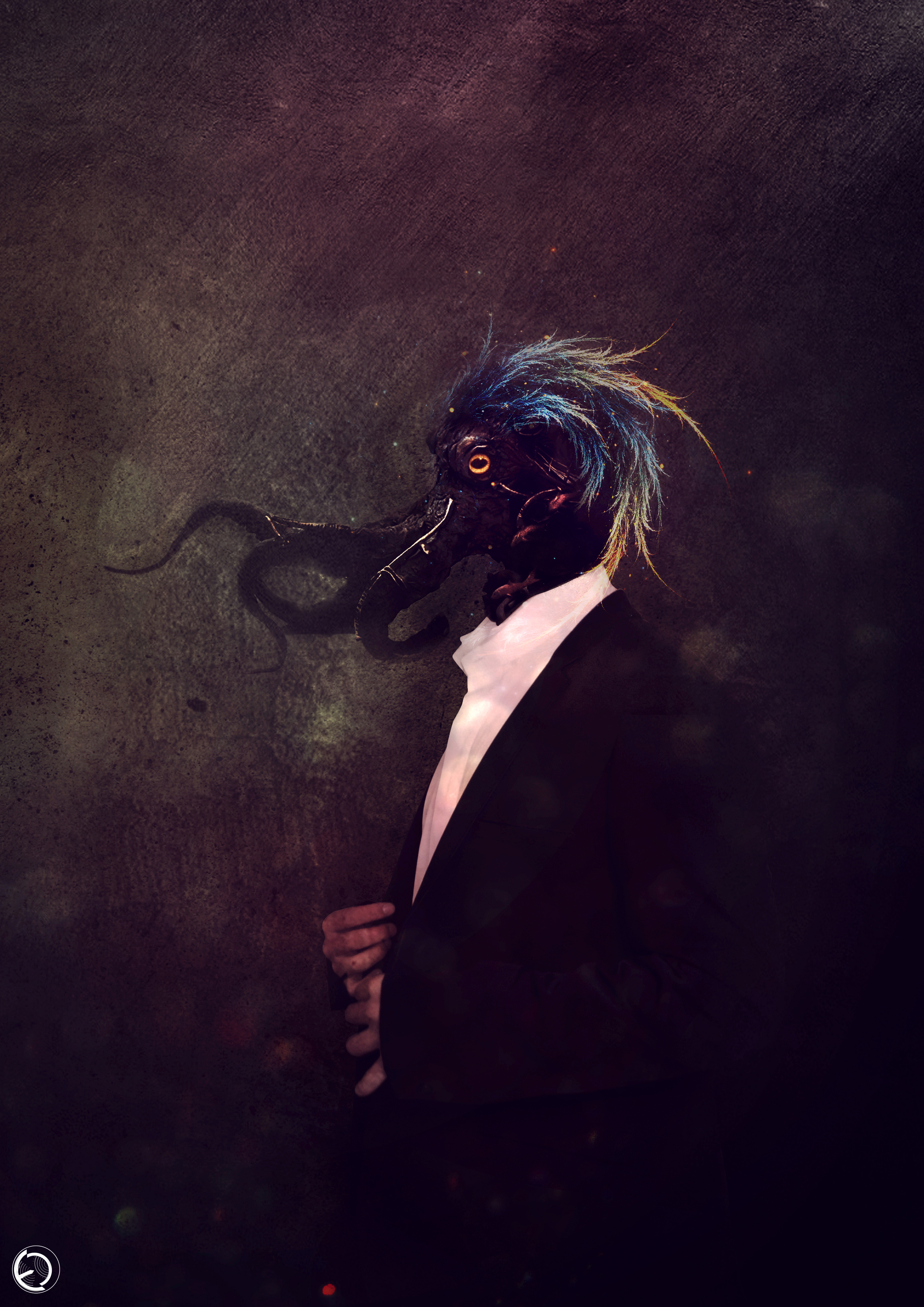 59803 download wallpaper Monster, Being, Creature, Tentacles, Fiction, That's Incredible, Art screensavers and pictures for free