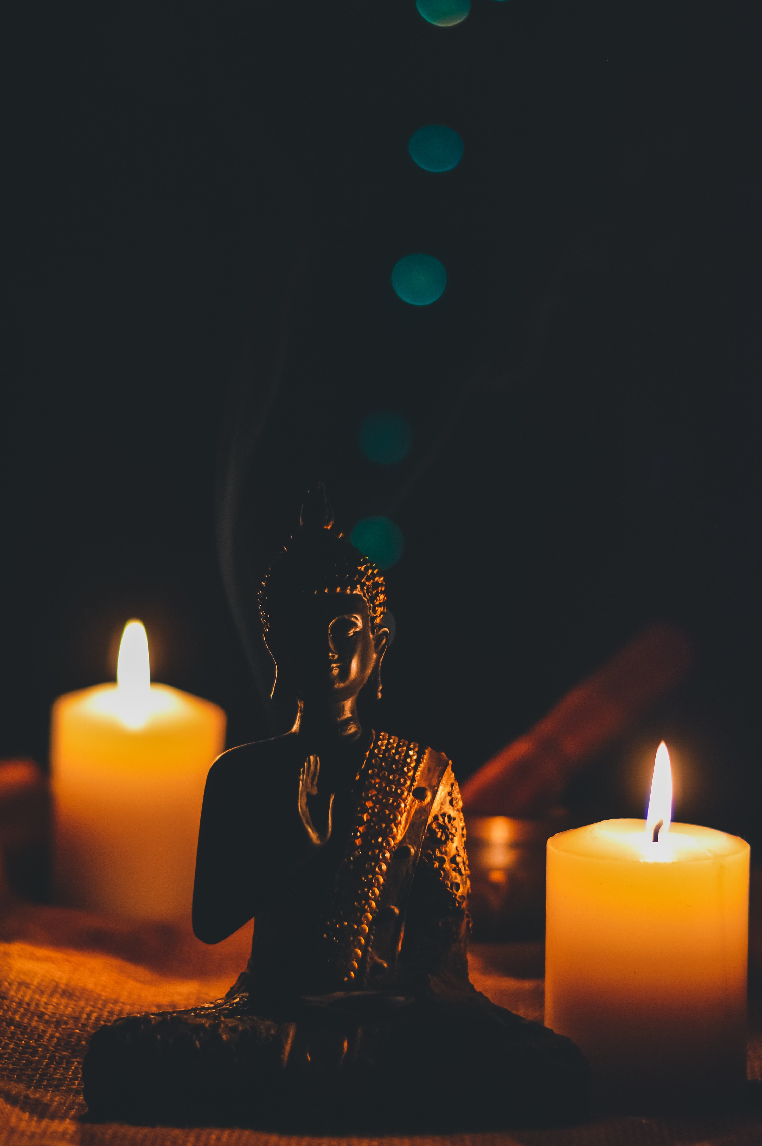 82360 Screensavers and Wallpapers Candles for phone. Download Candles, Buddha, Dark, Buddhism, Statuette, Harmony pictures for free