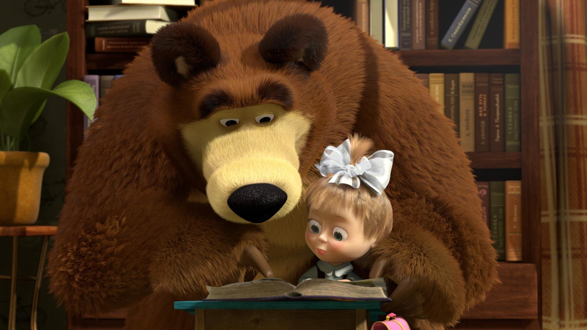 31767 Screensavers and Wallpapers Masha And The Bear for phone. Download Masha And The Bear, Cartoon pictures for free
