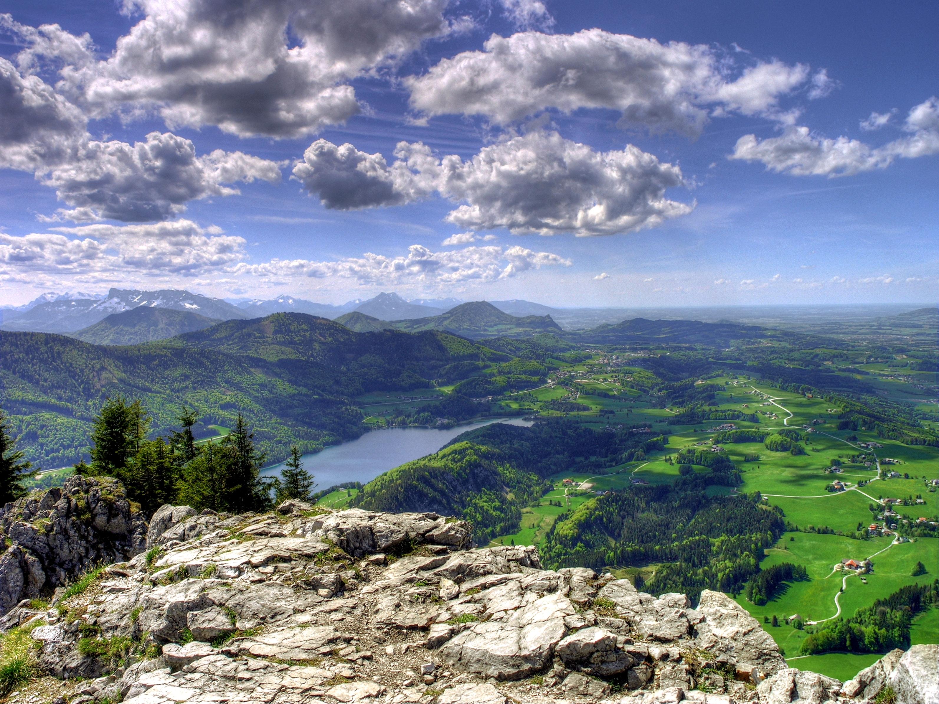 110975 descargar fondo de pantalla Naturaleza, Vista Desde Arriba, Nubes, Montañas, Paisaje: protectores de pantalla e imágenes gratis
