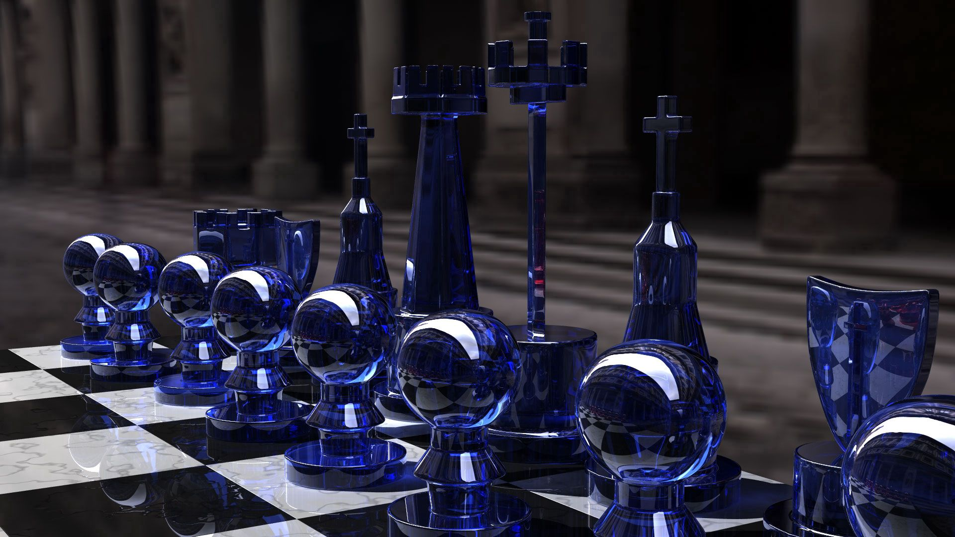142259 Screensavers and Wallpapers Form for phone. Download Chess, 3D, Form, Glass, Board pictures for free