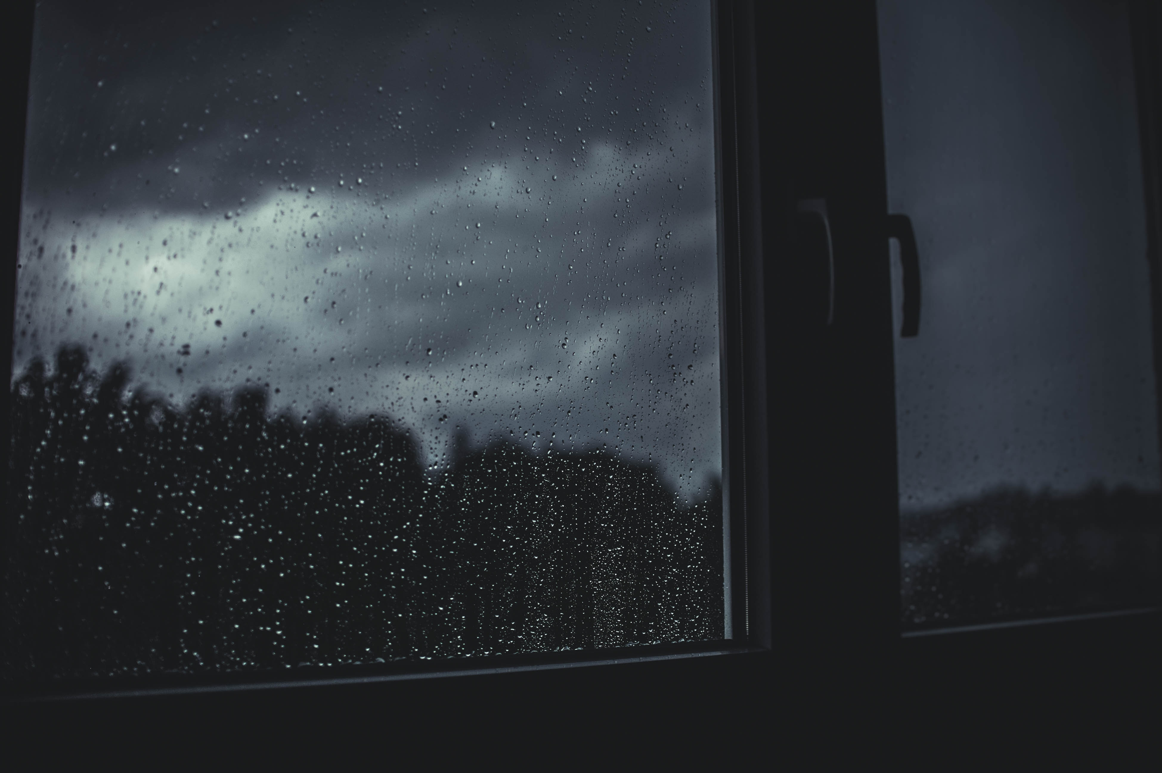 99665 Screensavers and Wallpapers Dark for phone. Download Dark, Window, Drops, Rain, Blur, Smooth pictures for free