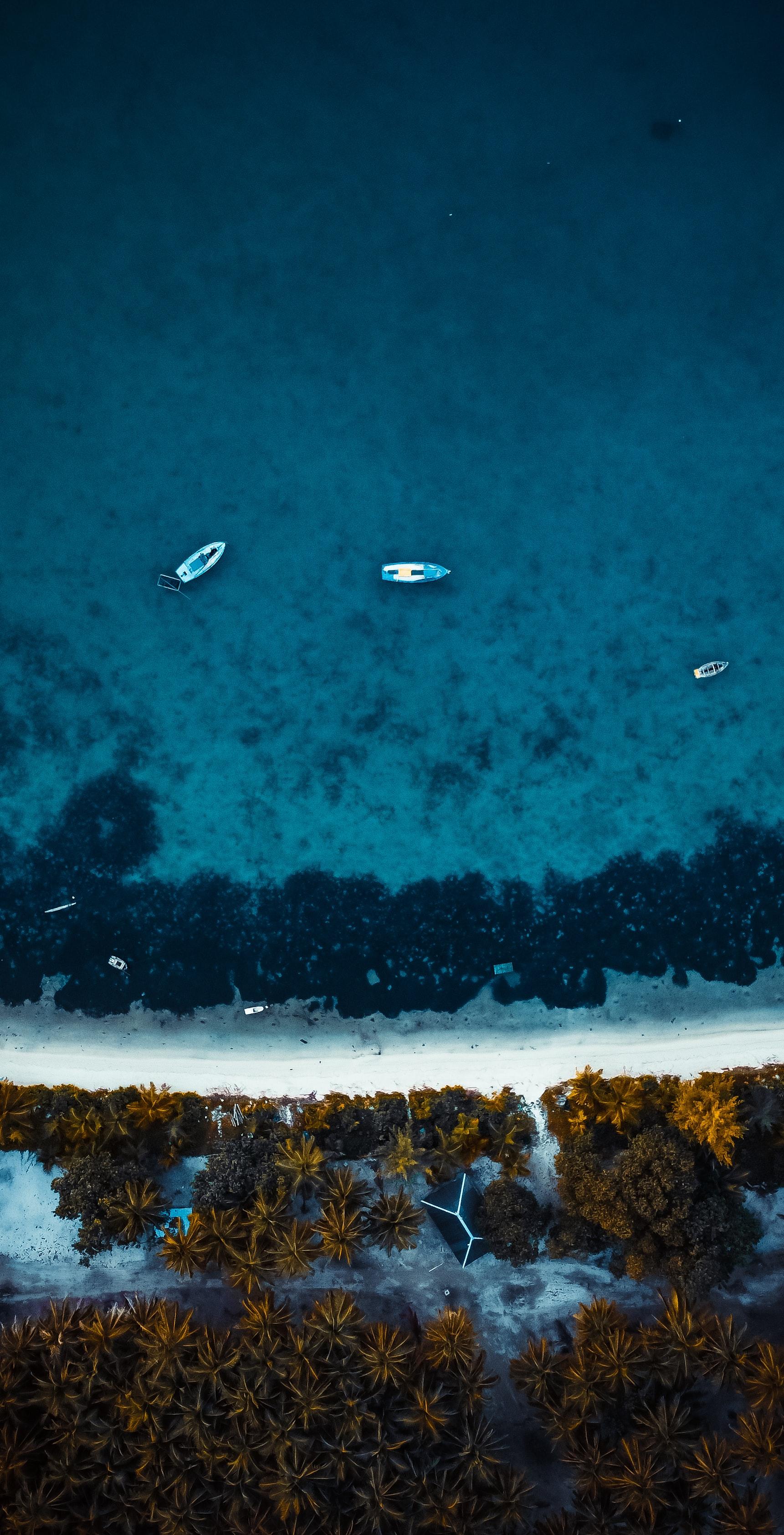 106078 Заставки и Обои Лодки на телефон. Скачать Природа, Море, Лодки, Вид Сверху, Вода, Пляж картинки бесплатно