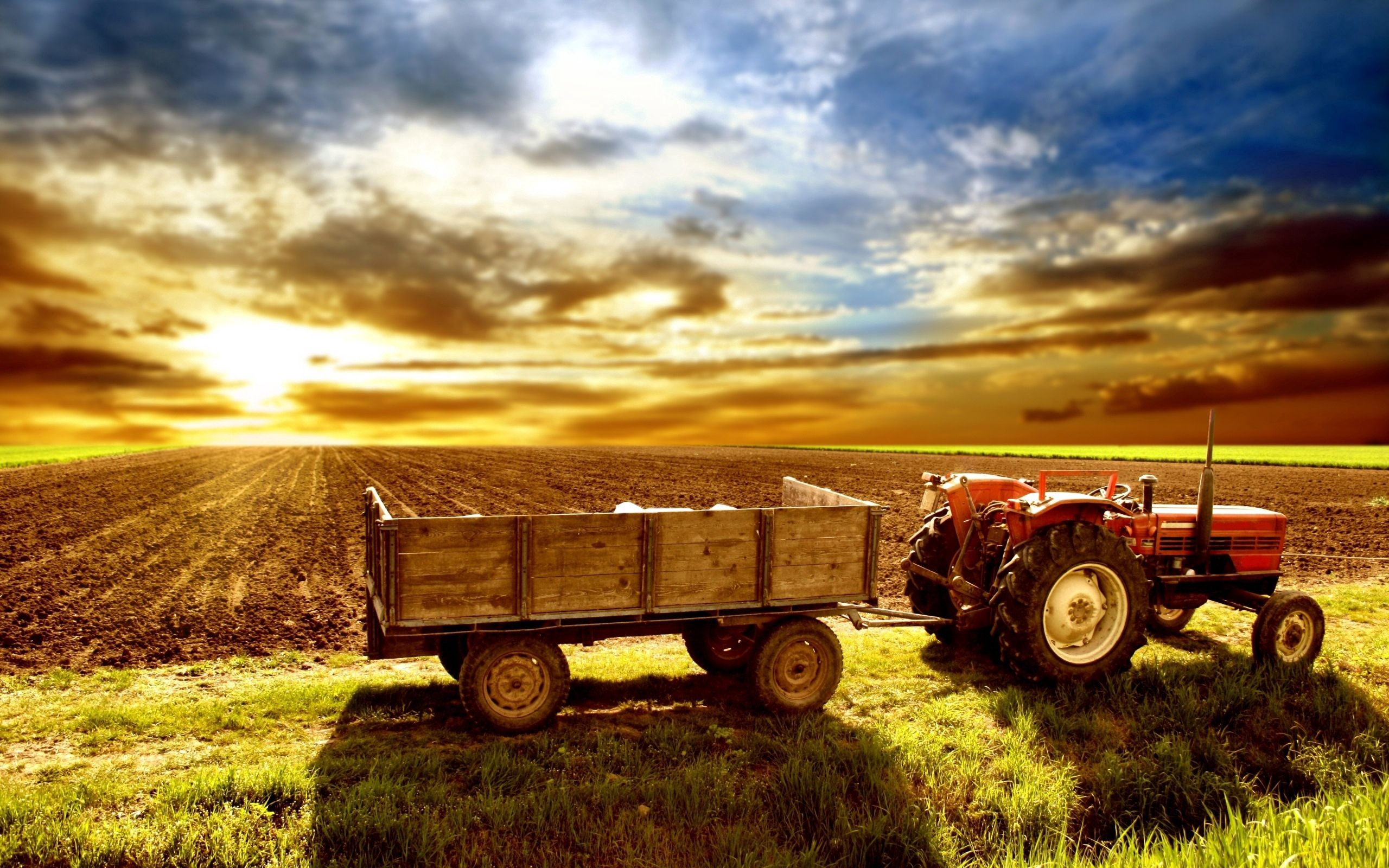 133148 Screensavers and Wallpapers Agriculture for phone. Download Nature, Field, Tractor, Agriculture, Arable Land pictures for free