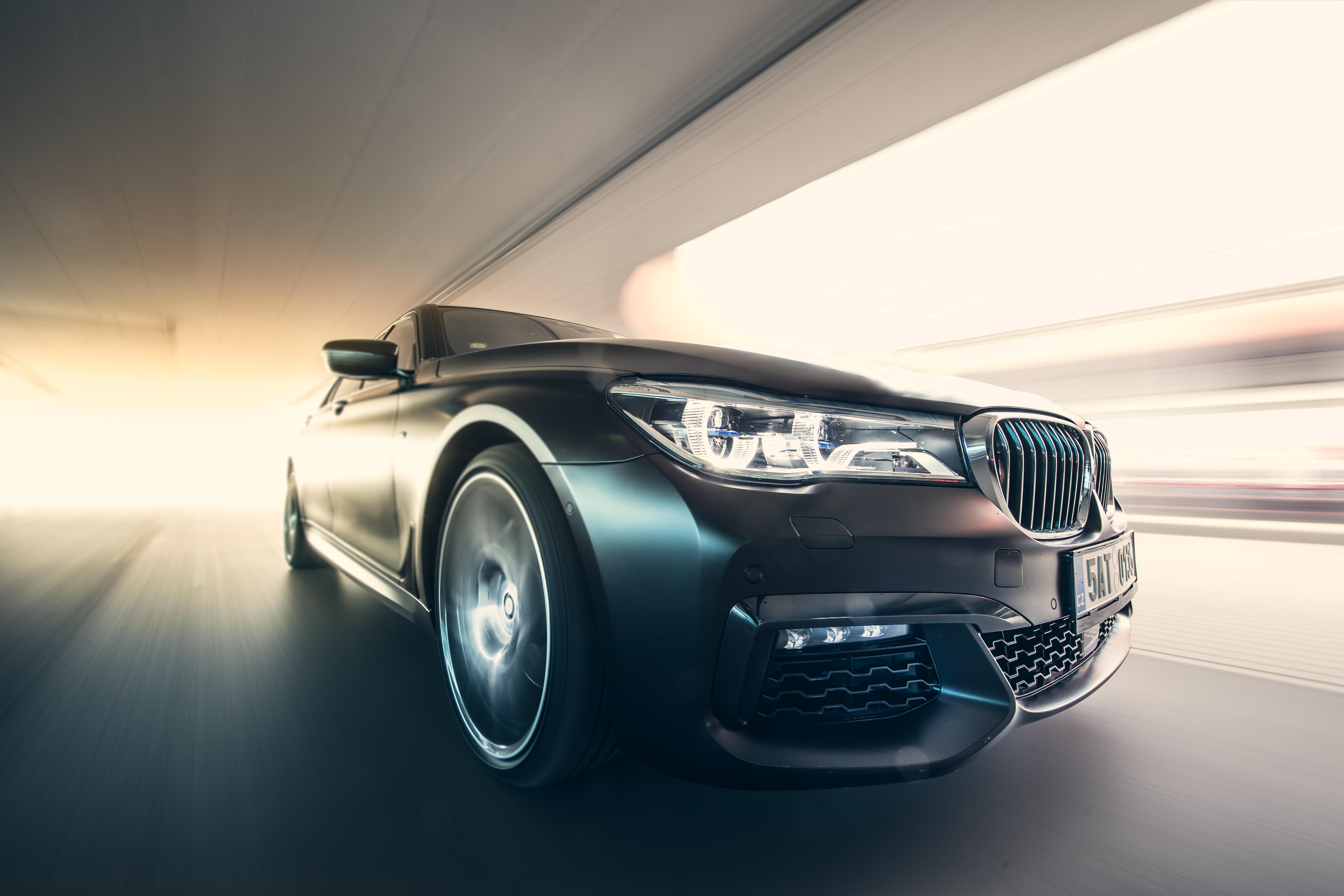 免費壁紙127810:汽车, 宝马7系, Bmw 7 Series, 宝马, 一辆车, 机器, 黑色的, 速度 下載手機圖片